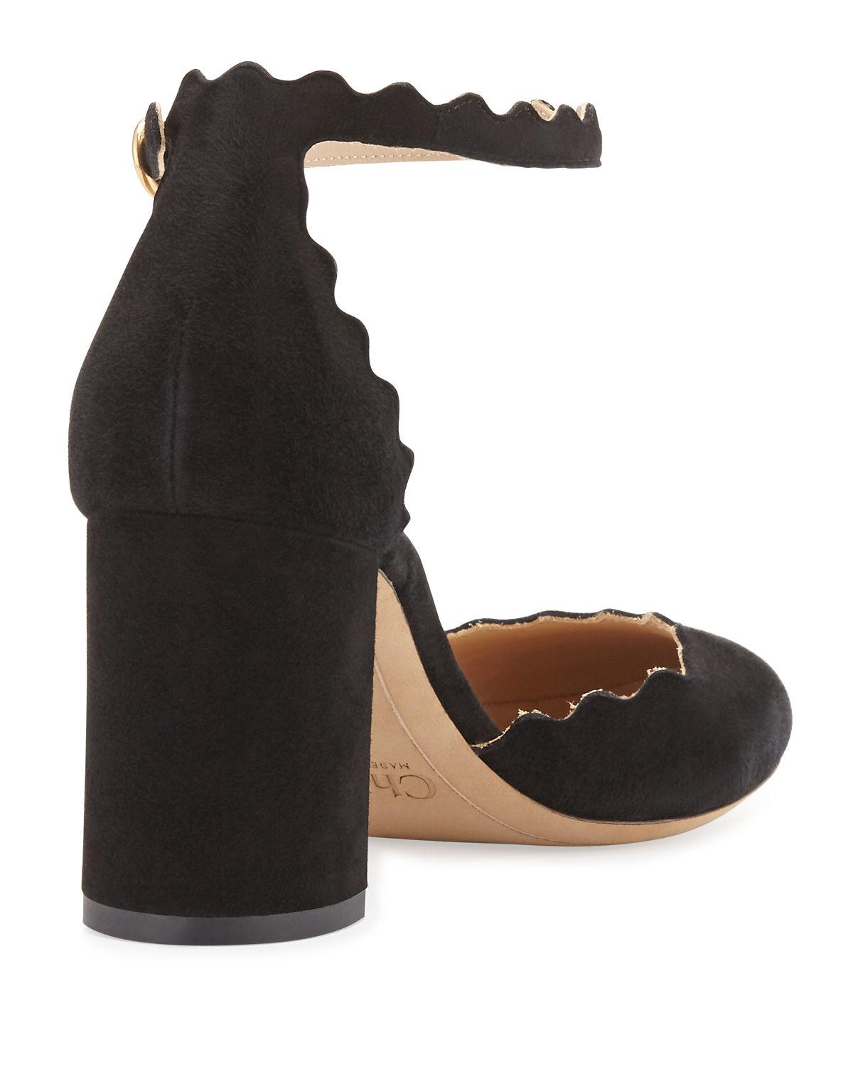 9cffb10bb46 Lyst - Chloé Lauren Scalloped D orsay Pump in Black