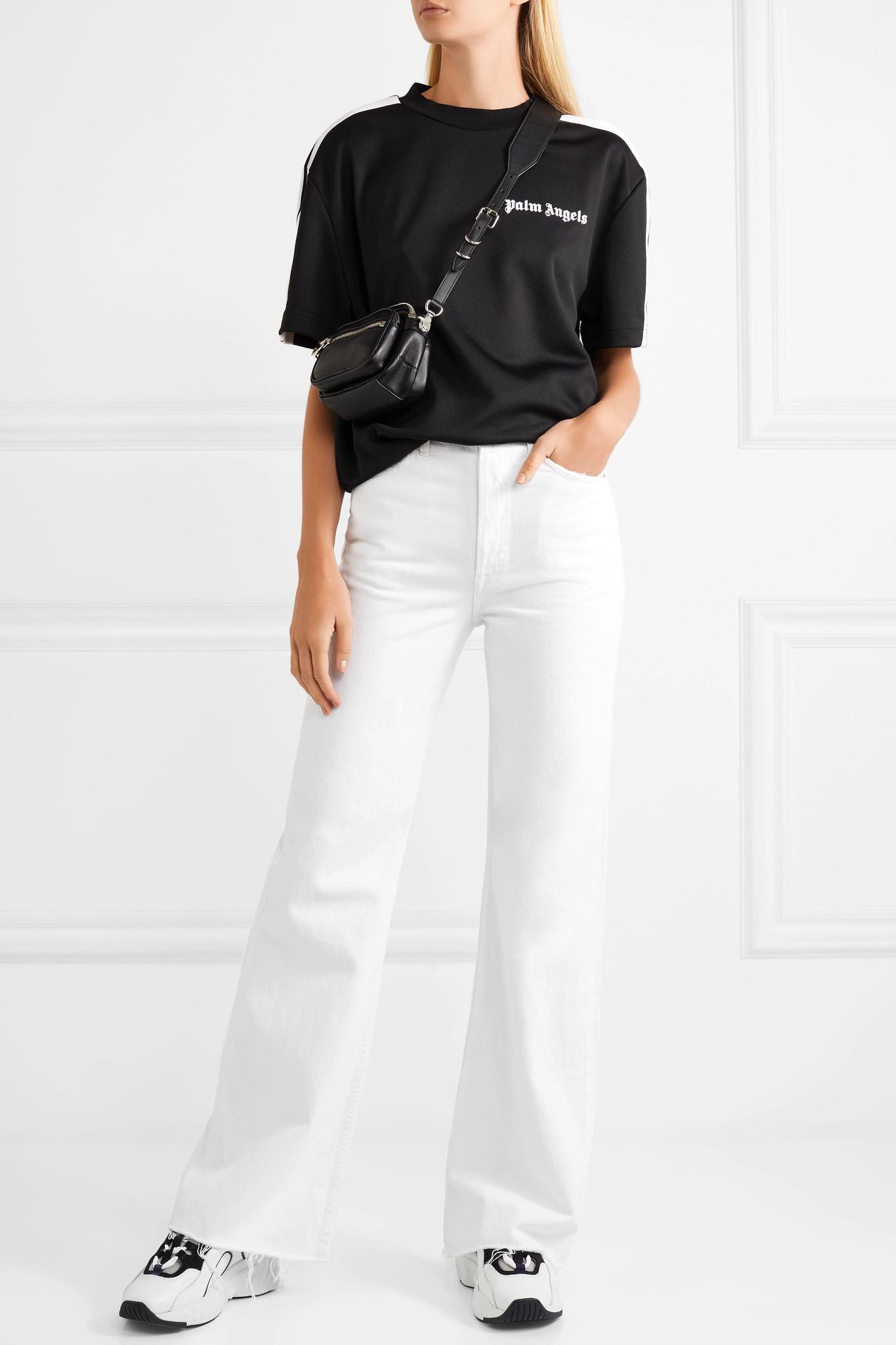 Lyst - GRLFRND Carla High-rise Flared Jeans in White 55d344871