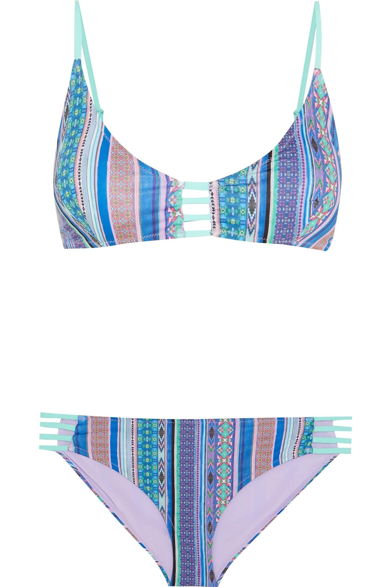Matthew Williamson Saya cutout printed bikini