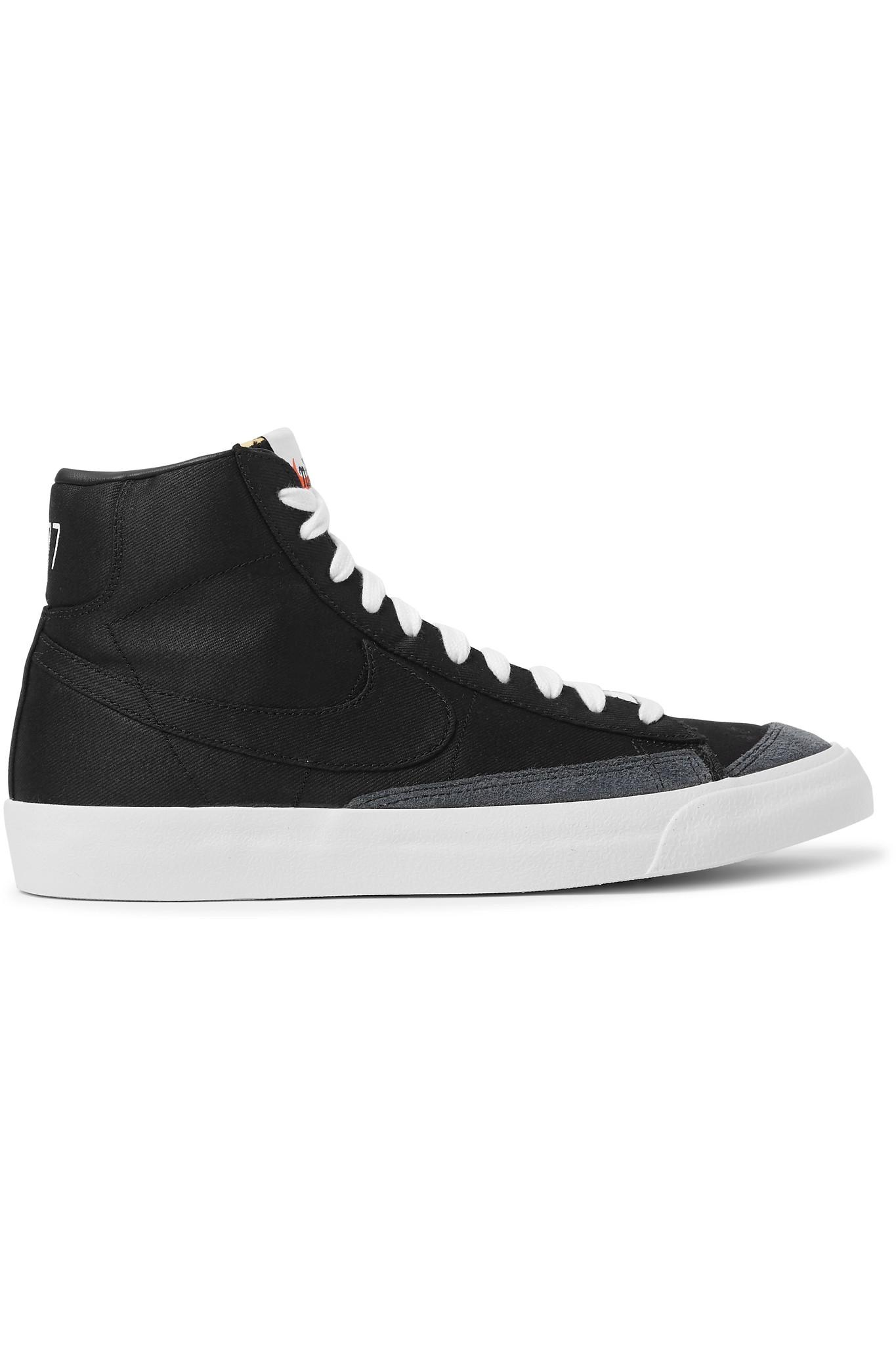 new arrival 7bf75 a0476 Nike. Women s Black Blazer Mid  77 Suede-trimmed Canvas High-top Sneakers
