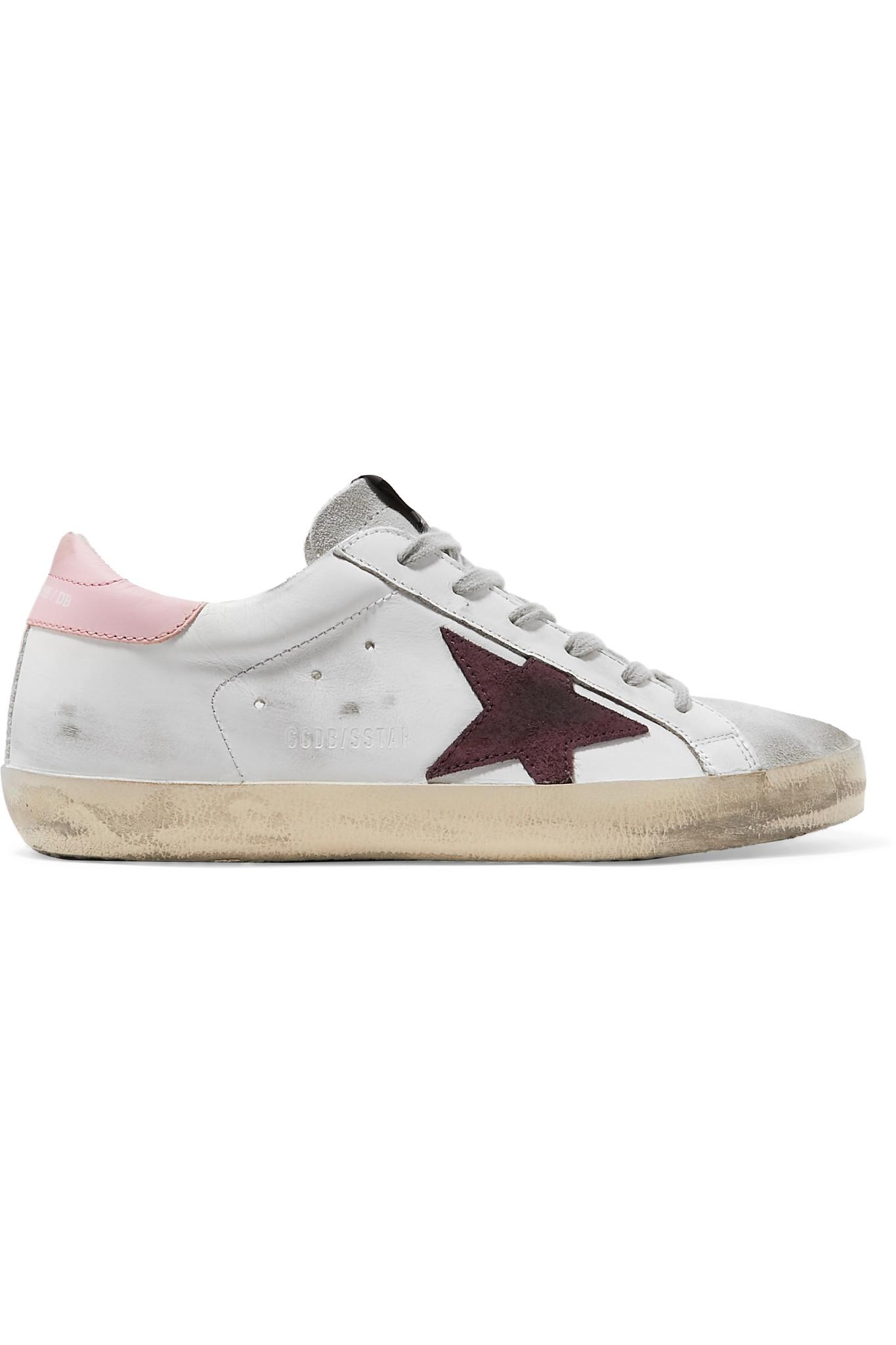 4d1f18ca44c0b3 Lyst - Golden Goose Deluxe Brand Superstar Distressed Leather And ...