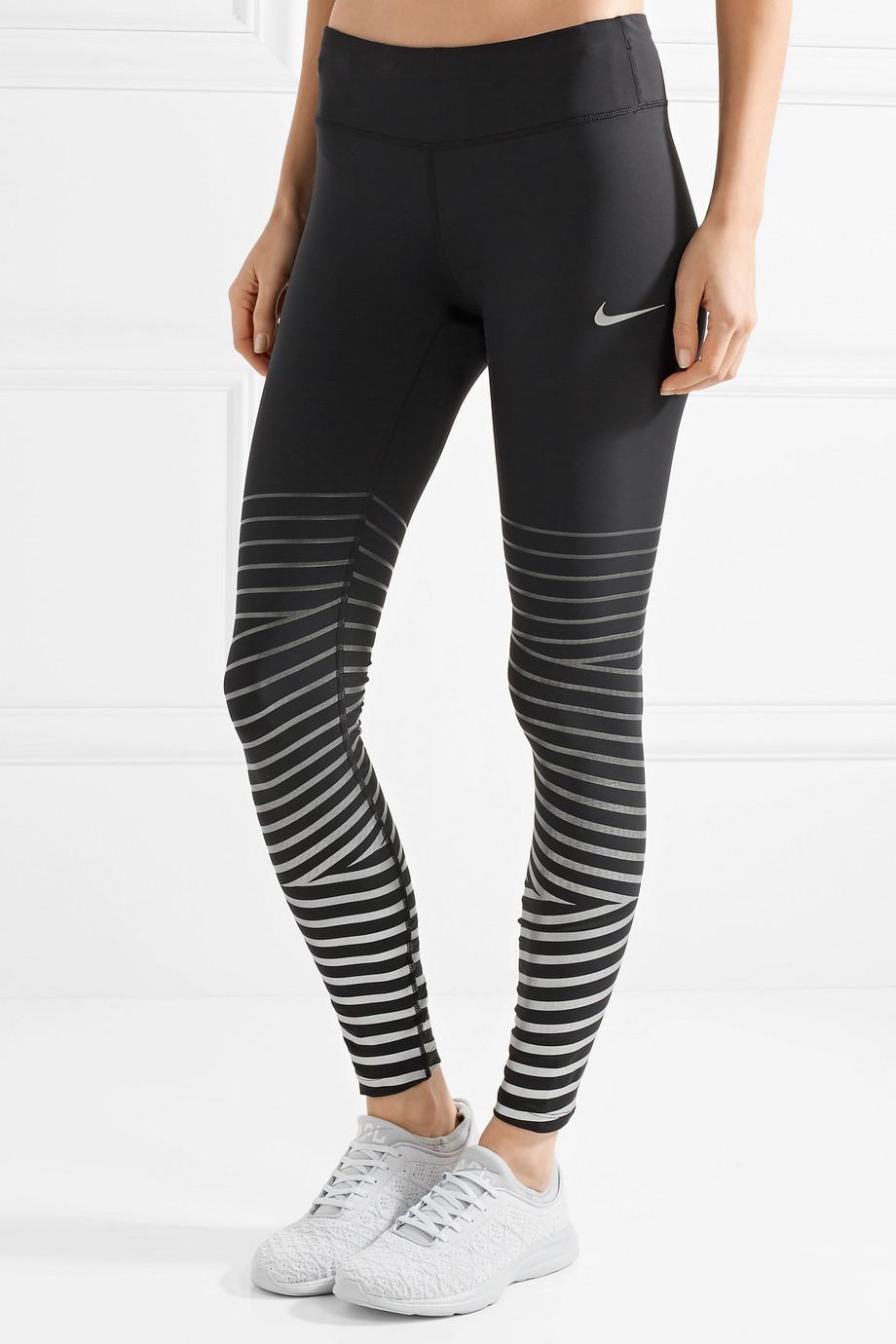 nike striped leggings