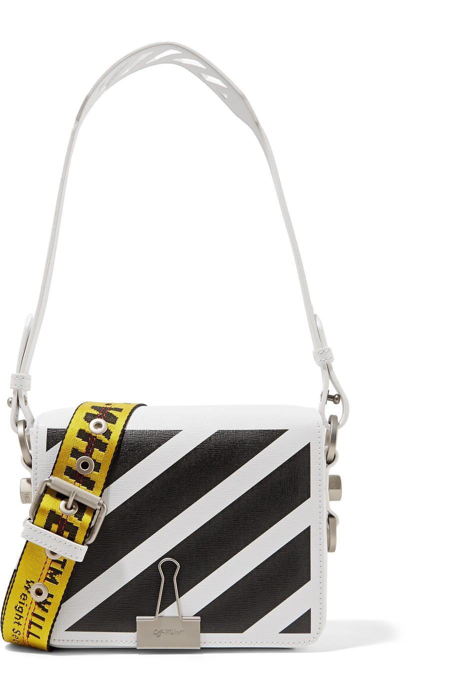 b170d9173e63 Lyst - Off-White c o Virgil Abloh Printed Leather Shoulder Bag in White