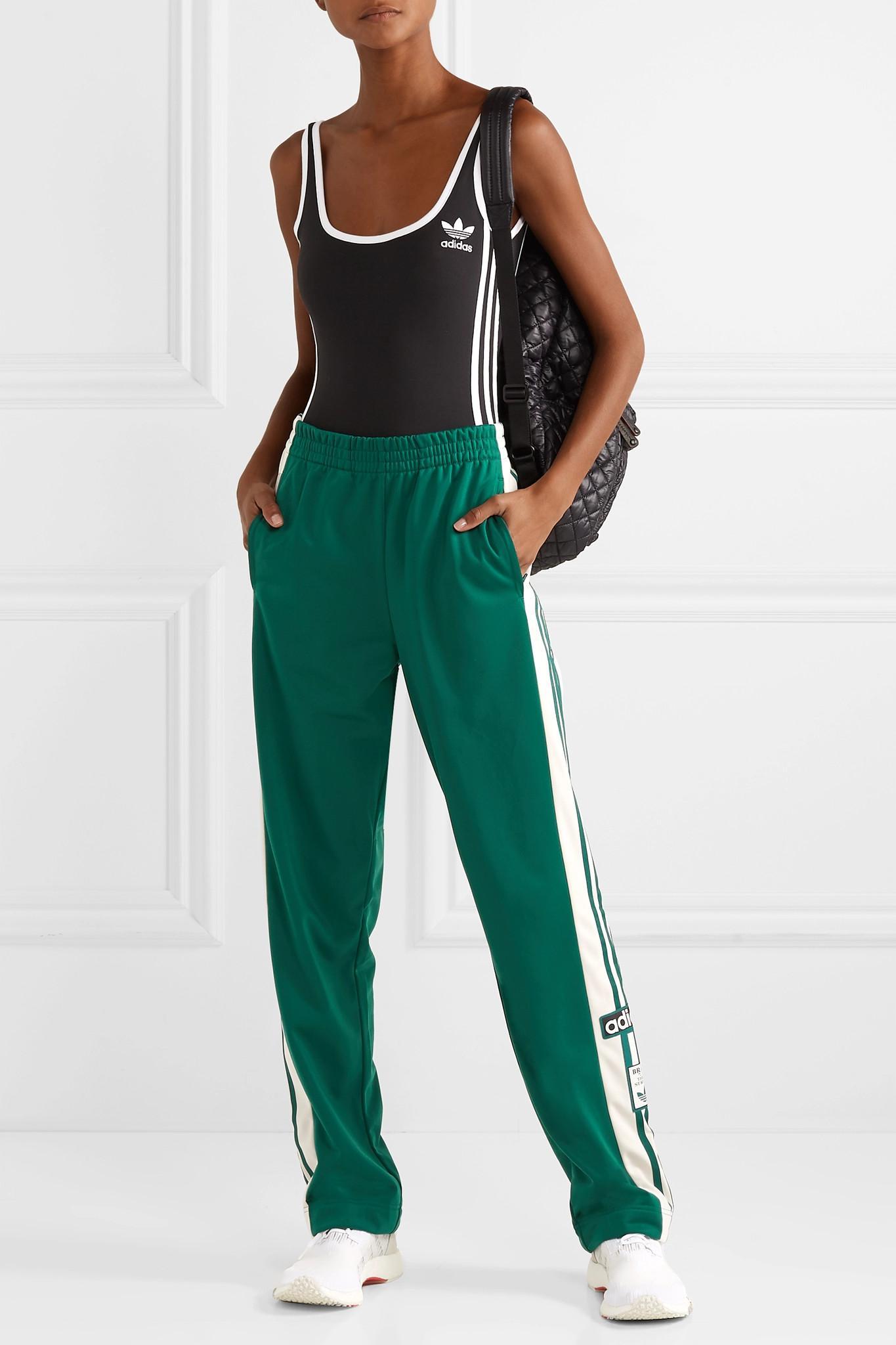 Adidas Striped Pants Satin Track In Lyst Jersey Originals Adibreak tSdxZw