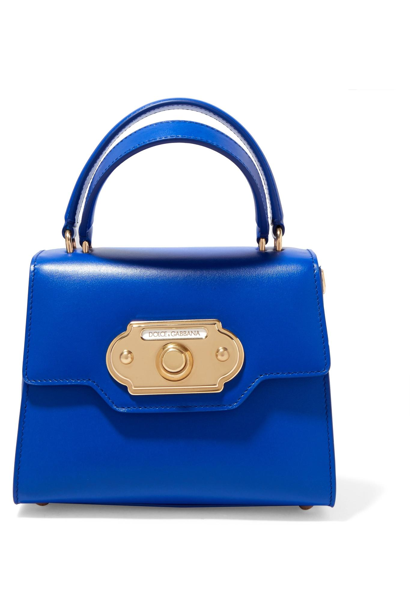 Welcome Small Leather Tote - Blue Dolce & Gabbana fBoCXP