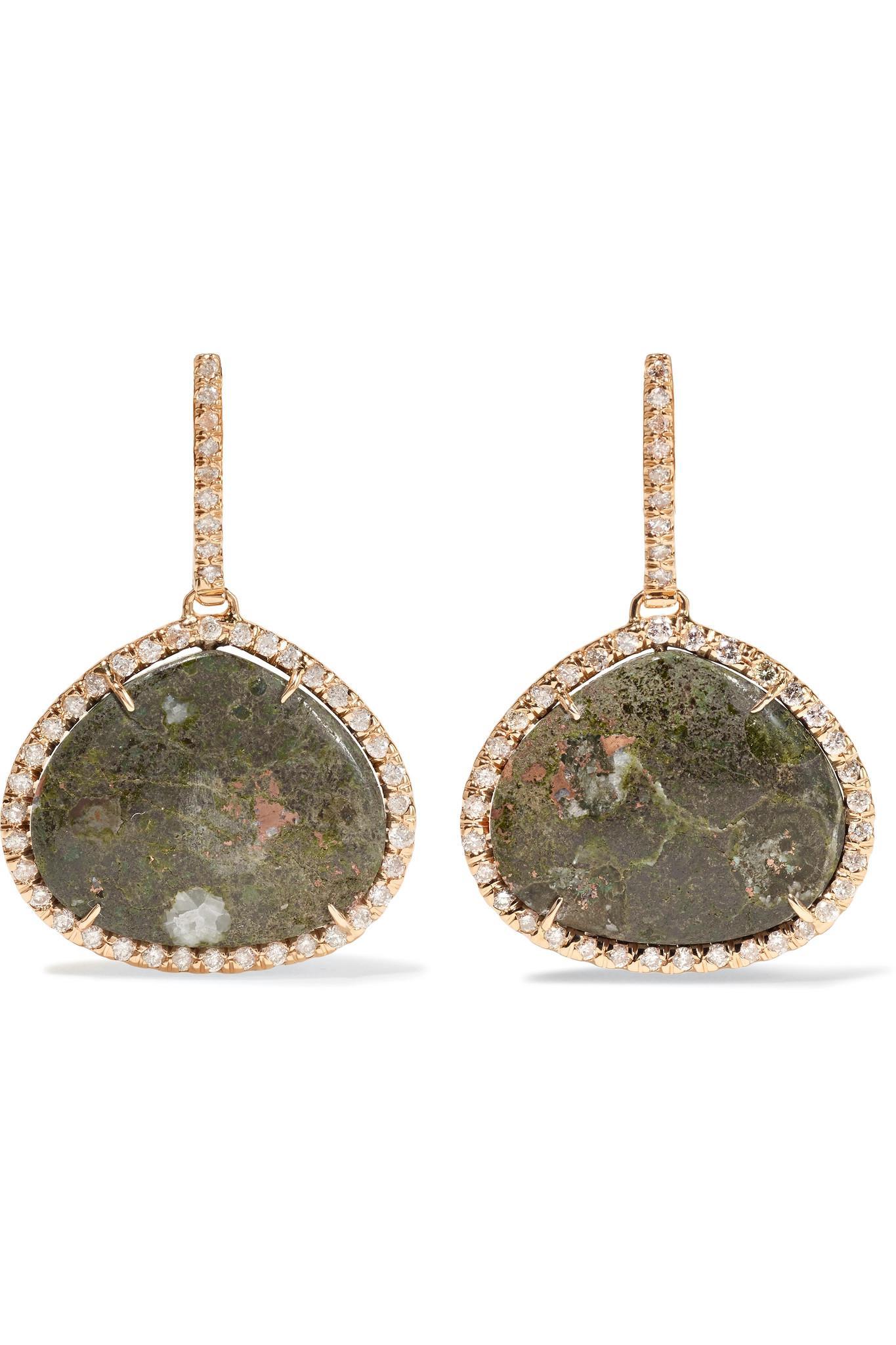 Kimberly McDonald 18-karat Rose Gold, Copper Ore And Diamond Earrings