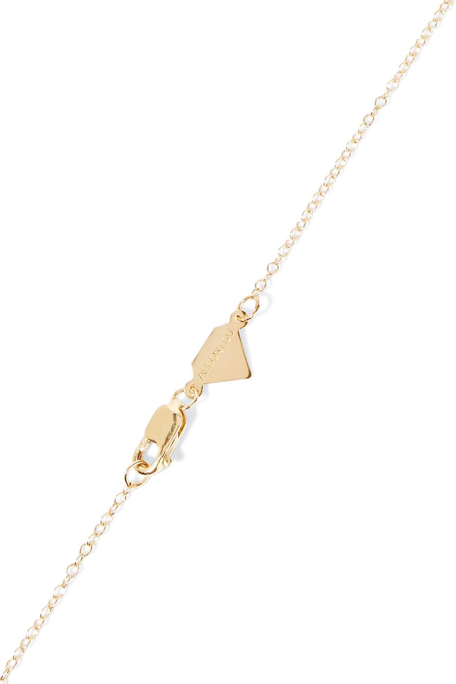 Alison Lou Small Tongue Out Enameled 14-karat Gold Necklace mOntoSnex