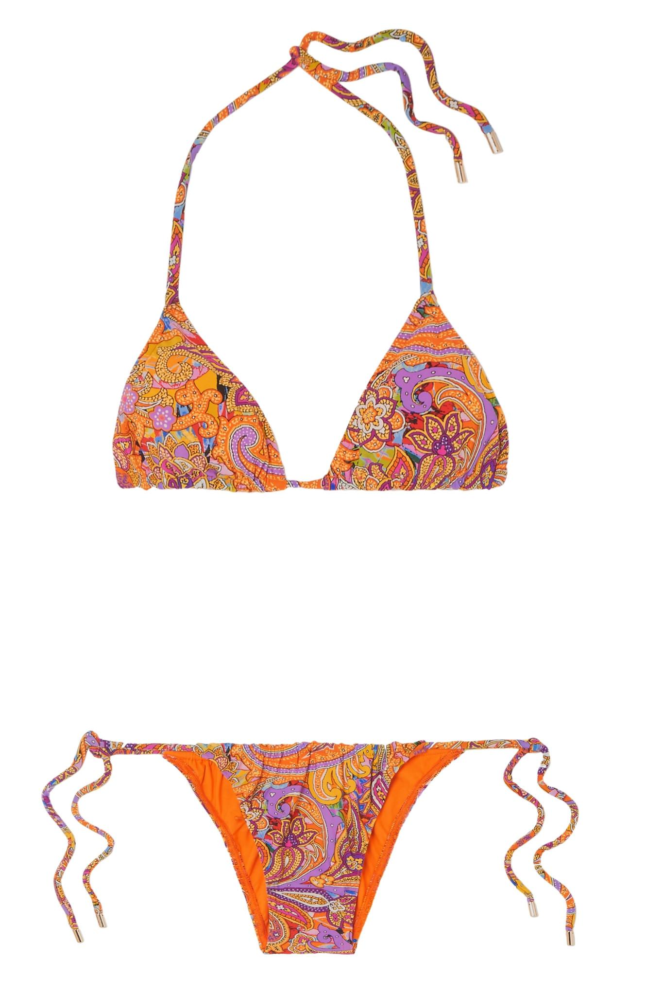 Etro Bikini triangle imprimé Bas Prix Sortie Des Images D'expédition Meilleur Fournisseur Combien En Ligne QZfo0z