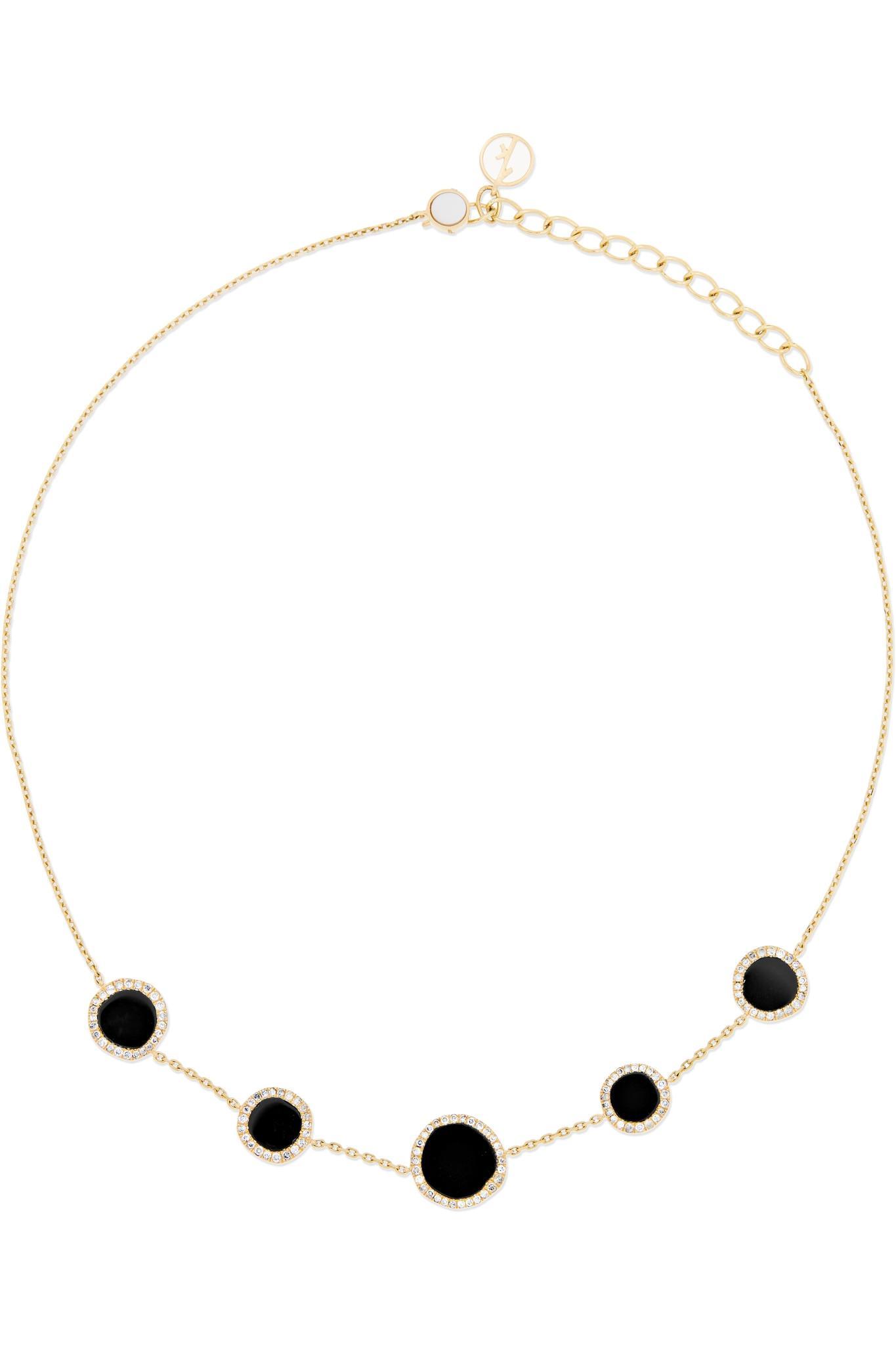 Anissa Kermiche 14-karat Gold, Pearl And Diamond Choker