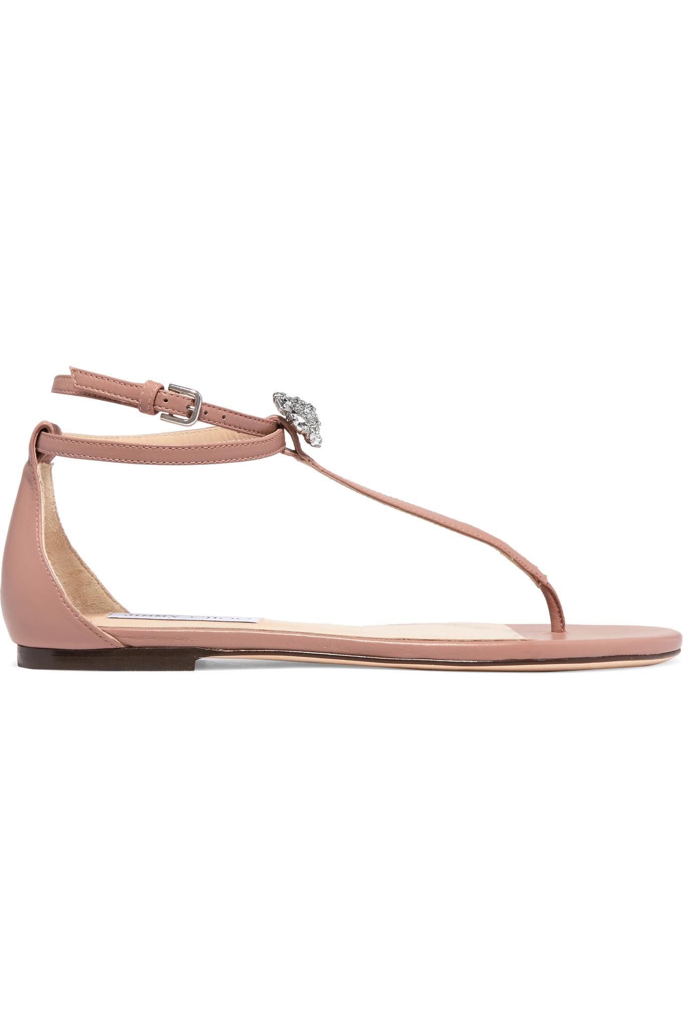 Enjoy Outlet Visa Payment Jimmy choo Afia crystal-embellished leather sandals rjY37sctTe
