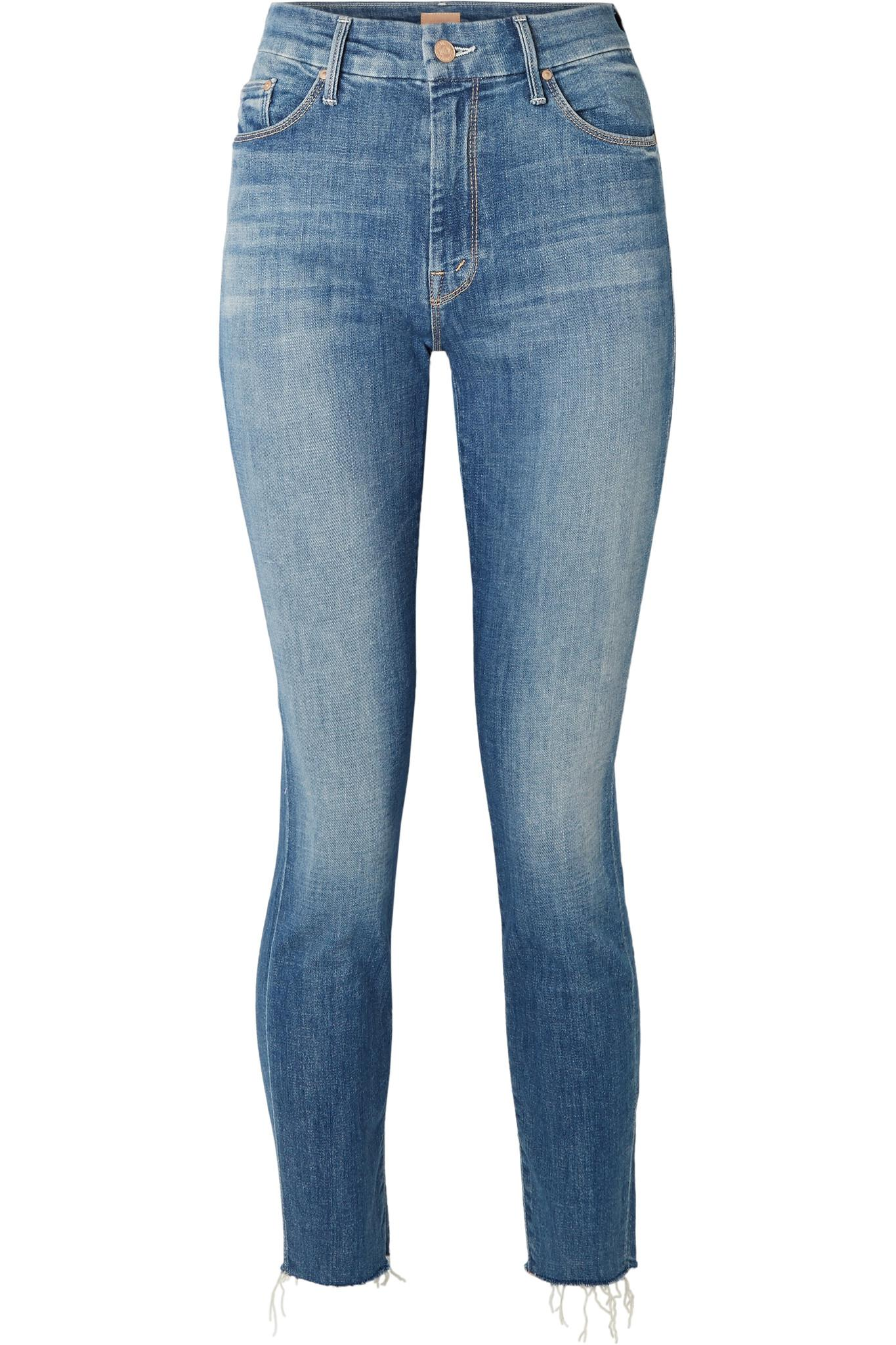 The Looker Cropped High-rise Skinny Jeans - Mid denim Mother fXjhHUkT7