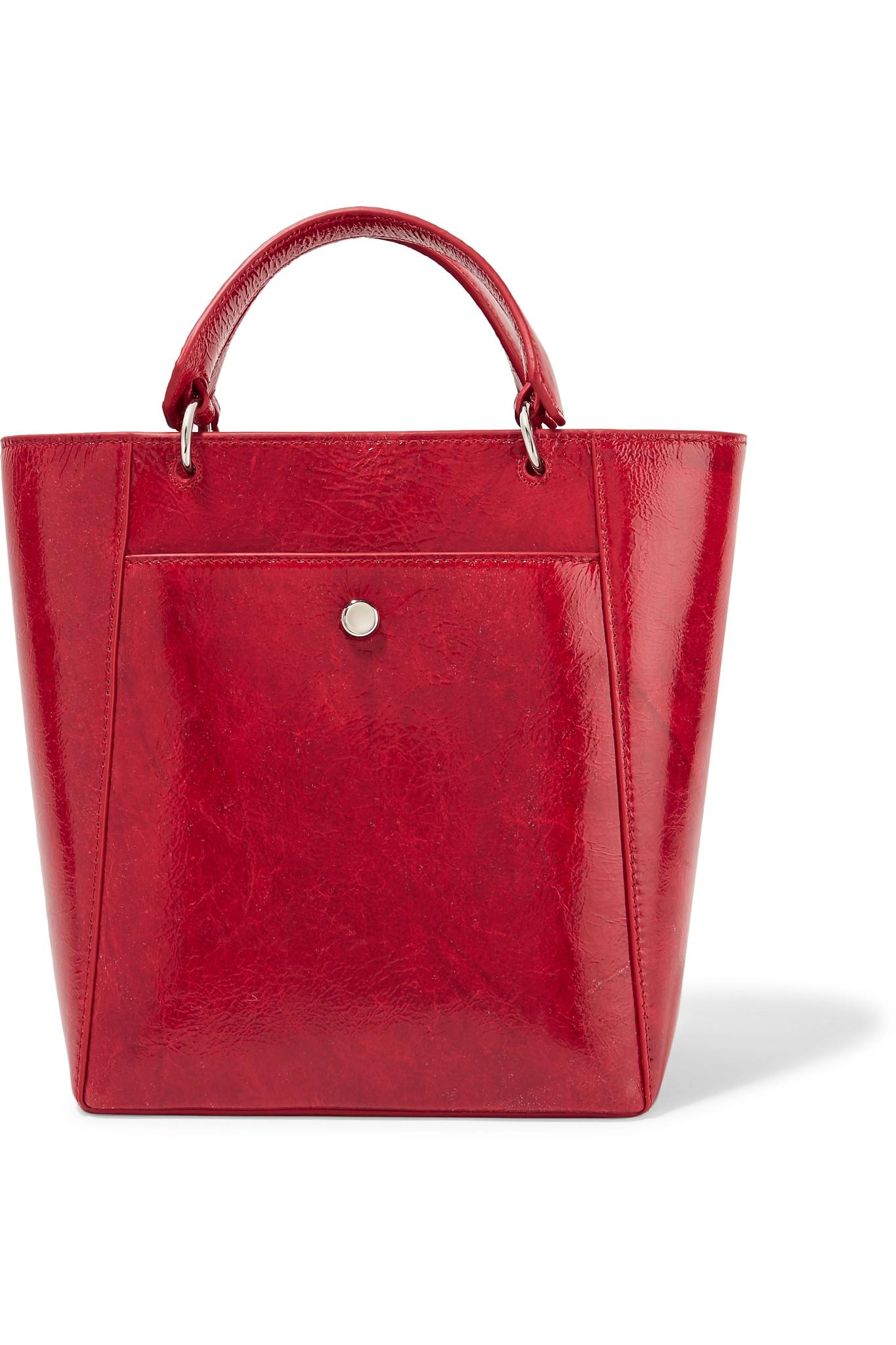 08c93a8fa27 Elizabeth and James Eloise Small Patent Textured-leather Tote