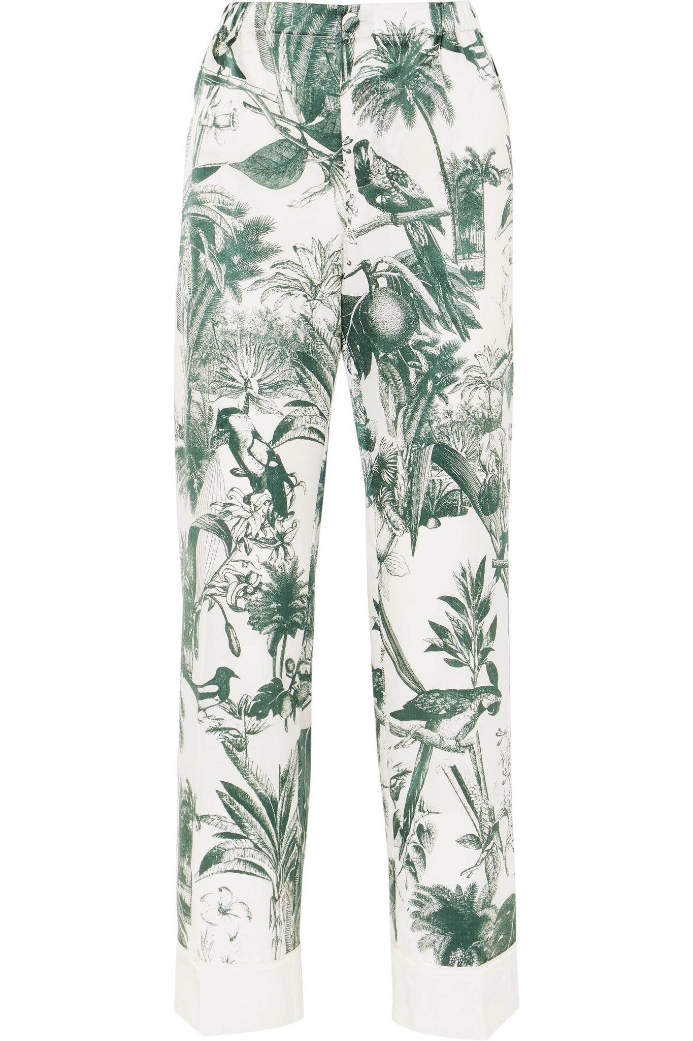 Etere Printed Cotton And Silk-blend Twill Straight-leg Pants - White F.R.S. For Restless Sleepers Best Place Cheap Price M09KtR