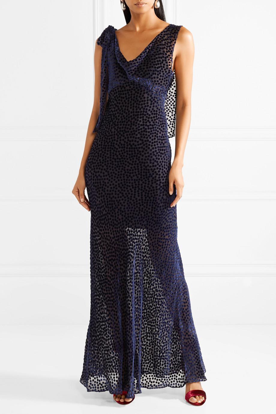Devoré-chiffon Gown - Purple Diane Von Fürstenberg Browse Online Cheap Sale Shop For Free Shipping Cheap Online Sale Online Shopping nZQiYKiObk