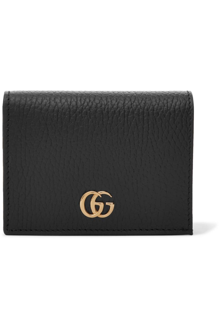 Marmont Petite Textured-leather Wallet - Black Gucci AcvcHRFBs