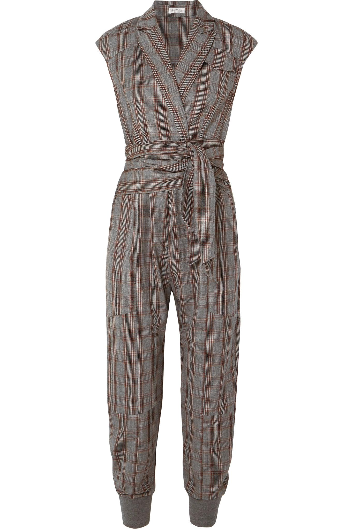 da9a98260 brunello-cucinelli-gray-Prince-Of-Wales-Checked-Wool-Jumpsuit.jpeg