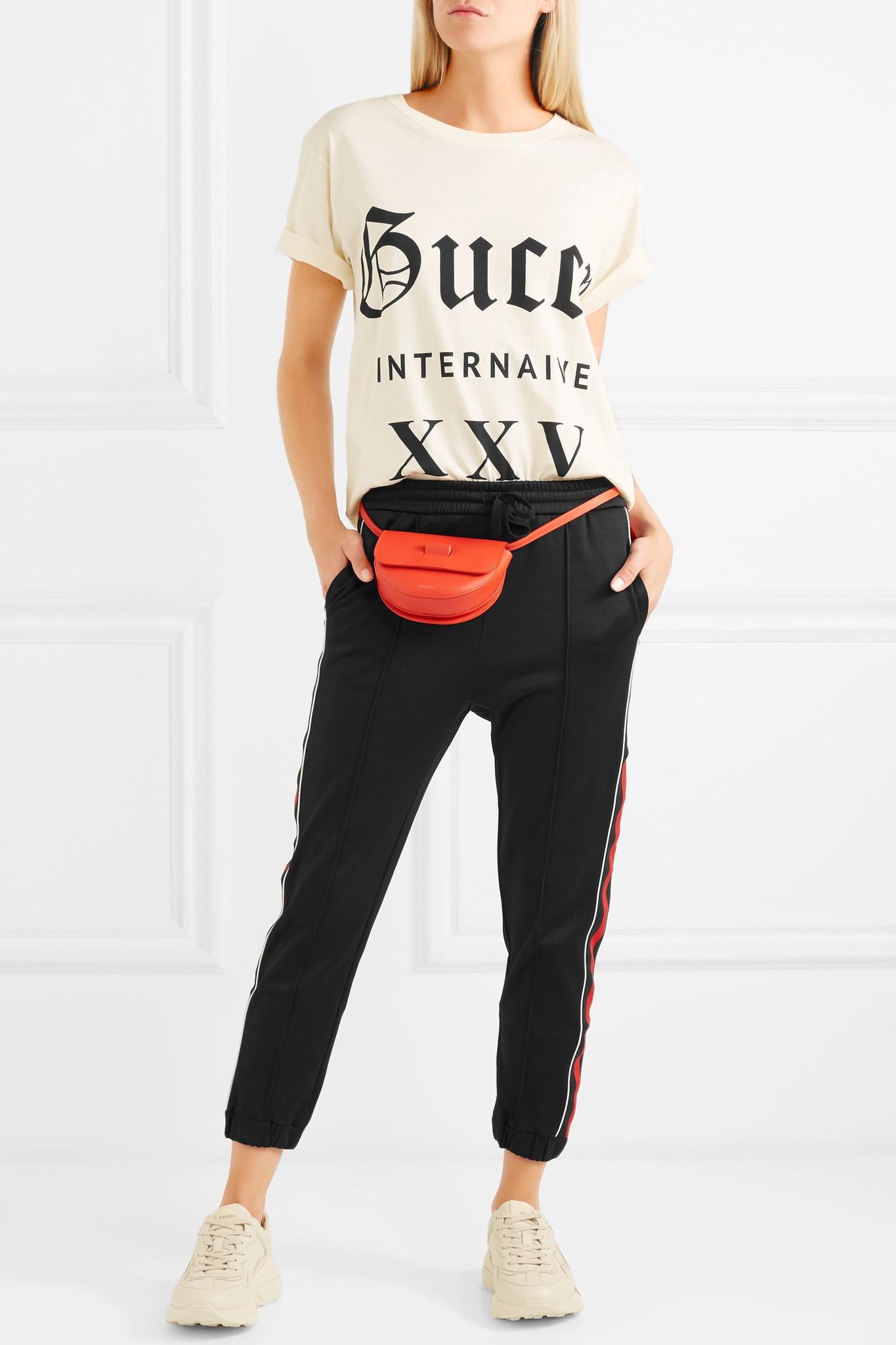 37b5d9489e37 Gucci - Black Striped Jersey Track Pants - Lyst. View fullscreen