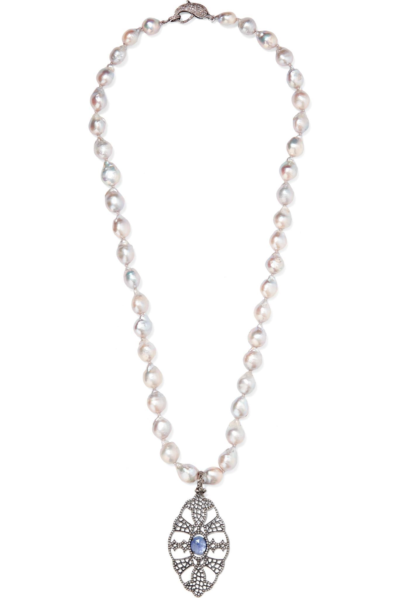Loree Rodkin Sterling Silver Multi-stone Necklace ba4K7GZNu