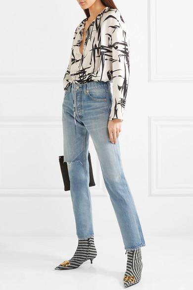 Balenciaga Tweed Houndstooth Bb Ankle