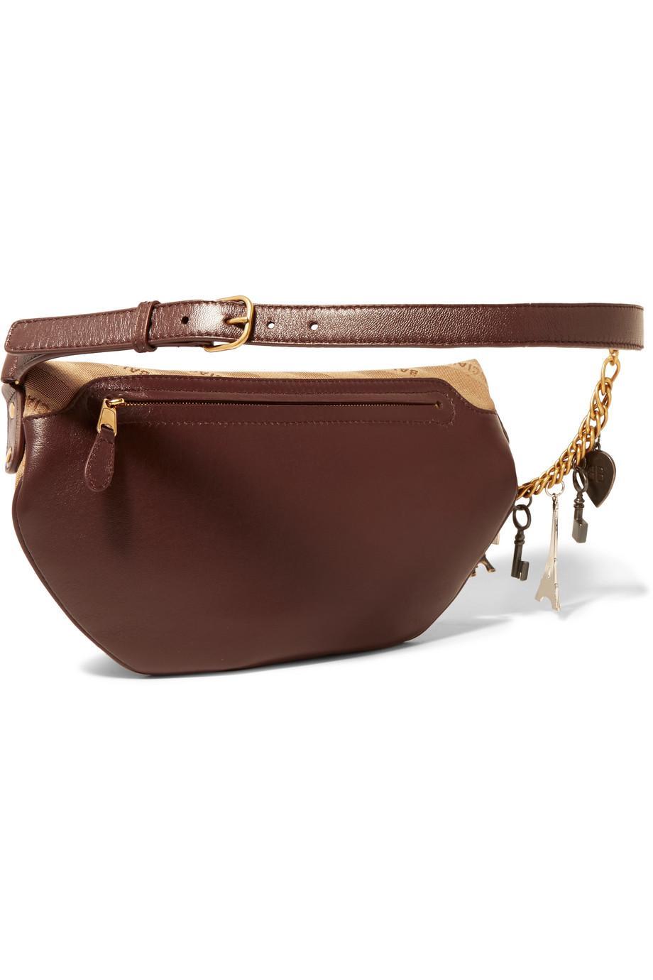 Souvenir Embellished Leather-trimmed Jacquard Belt Bag - Beige Balenciaga 2va7ii