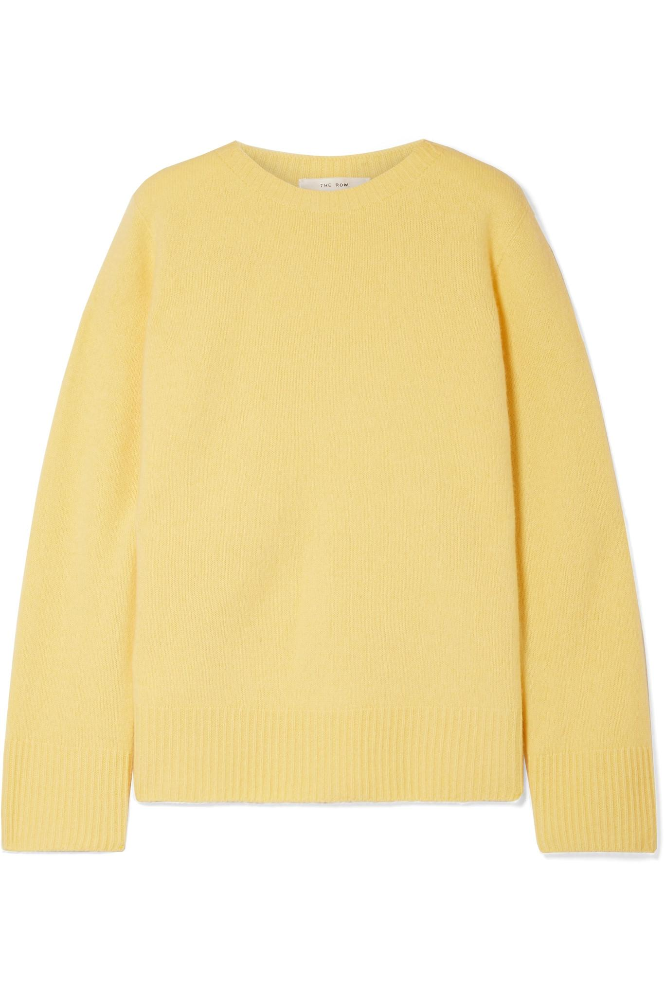 38a1fc8fc4 The Row - Yellow Sibel Oversized Wool And Cashmere-blend Sweater - Lyst.  View fullscreen