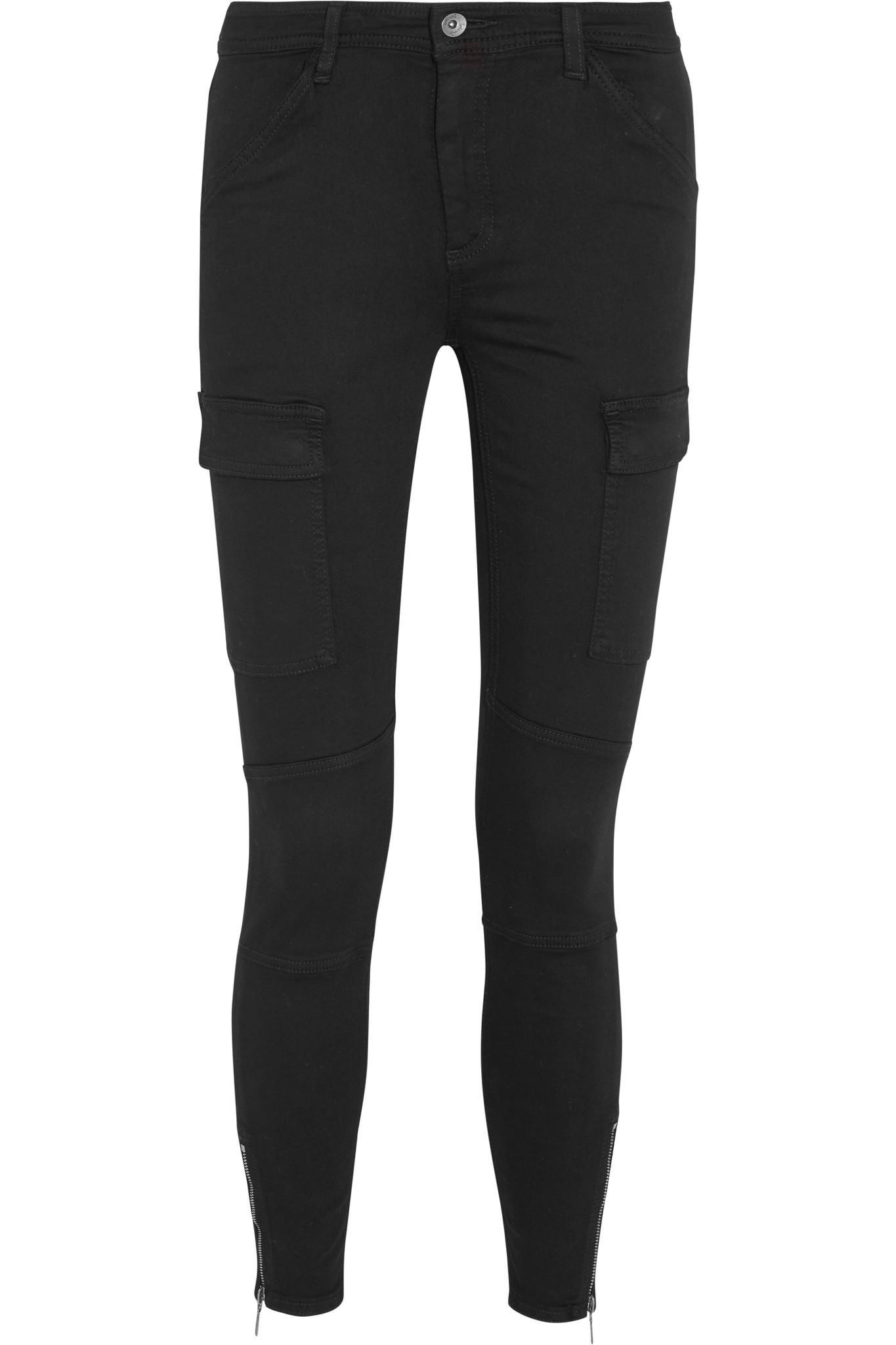 Splendid. Women's Black Hunter Stretch Modal-blend Twill Skinny Pants