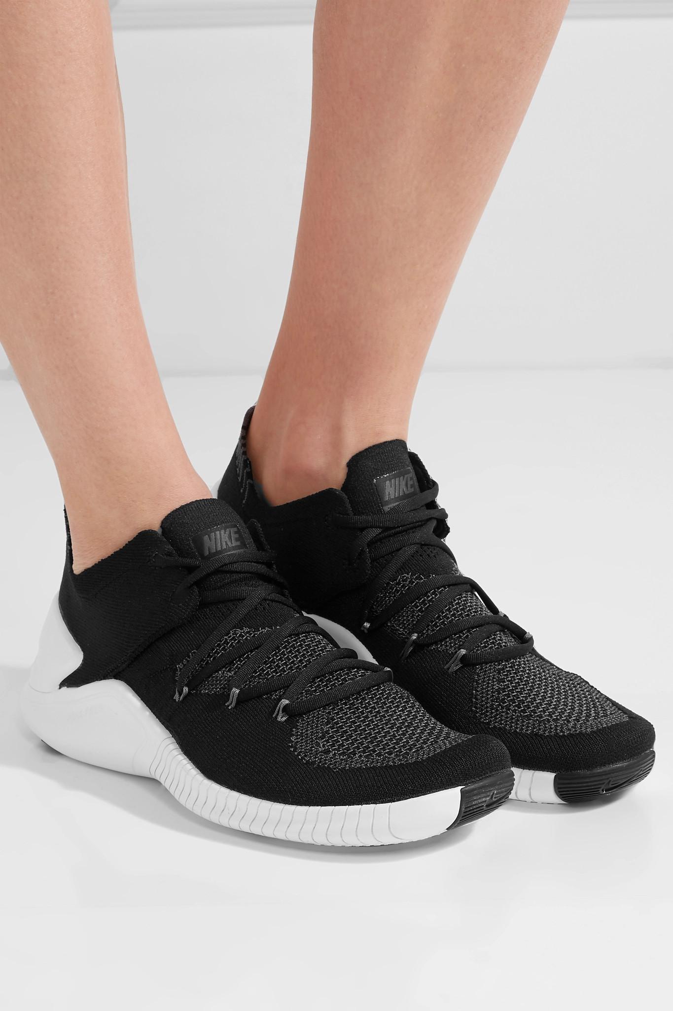 9f544eac079ad Lyst - Nike Free Tr 3 Flyknit Sneakers in Black