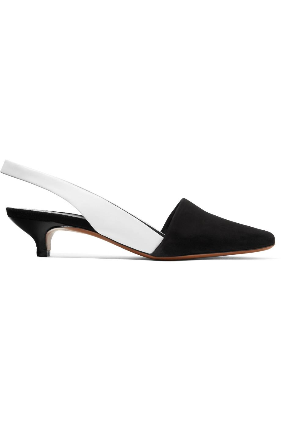 Free Shipping Good Selling Neous Podium Suede And Leather Slingback Pumps Best Prices Cheap Price mfzOupqz9S