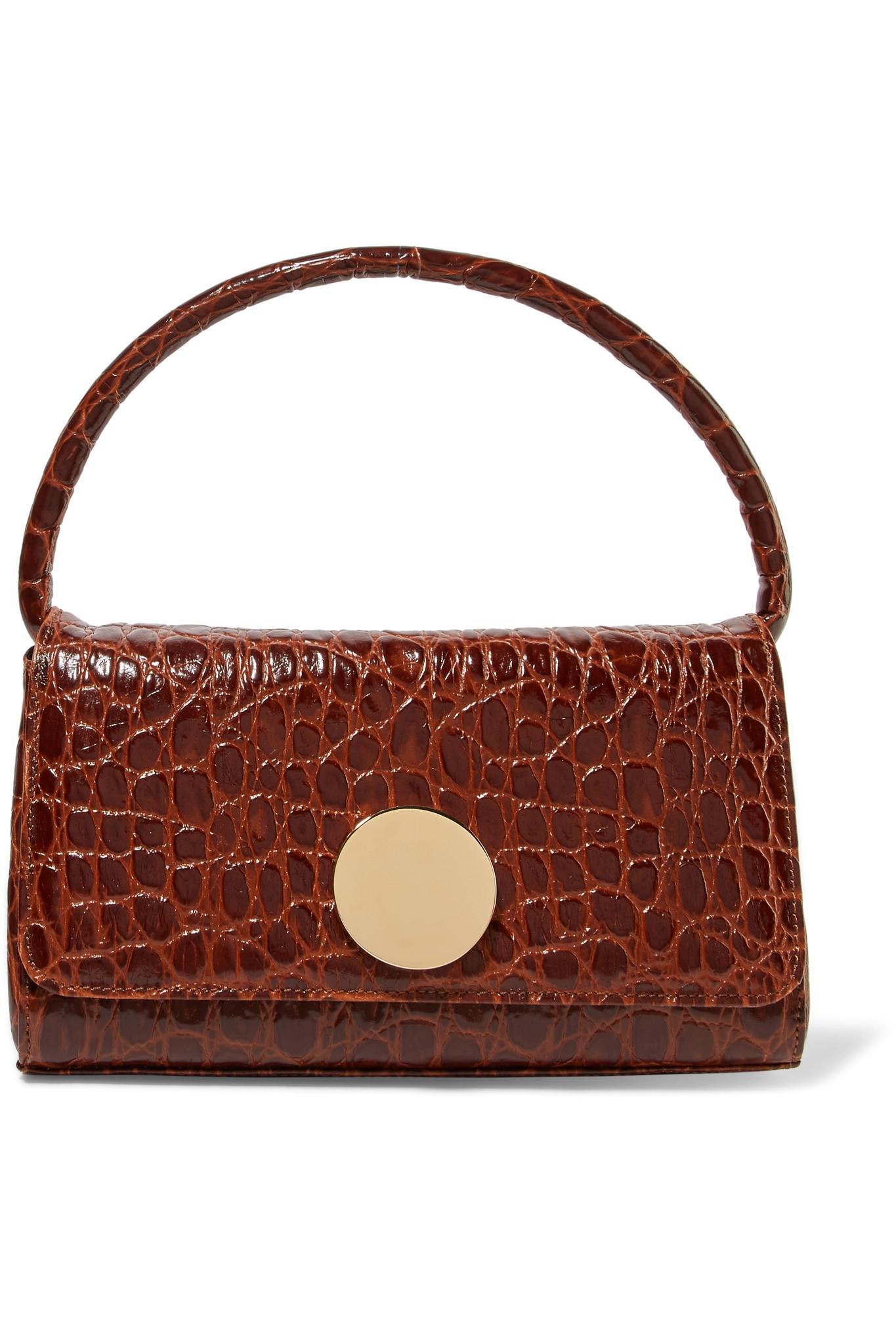 0cb5b71728 Little Liffner Baguette Croc-effect Leather Shoulder Bag in Brown - Lyst