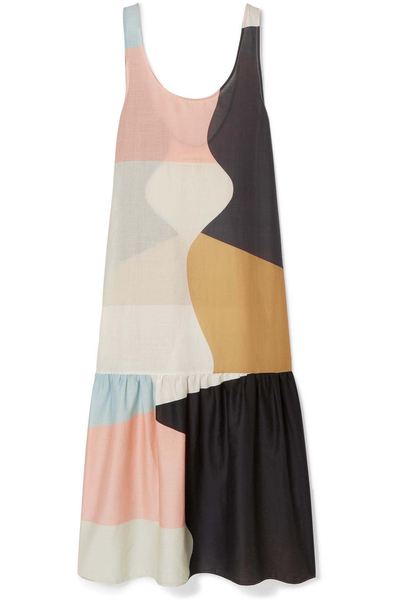 4768f4ed97 Mara Hoffman Valentina Color-block Organic Cotton-voile Maxi Dress ...