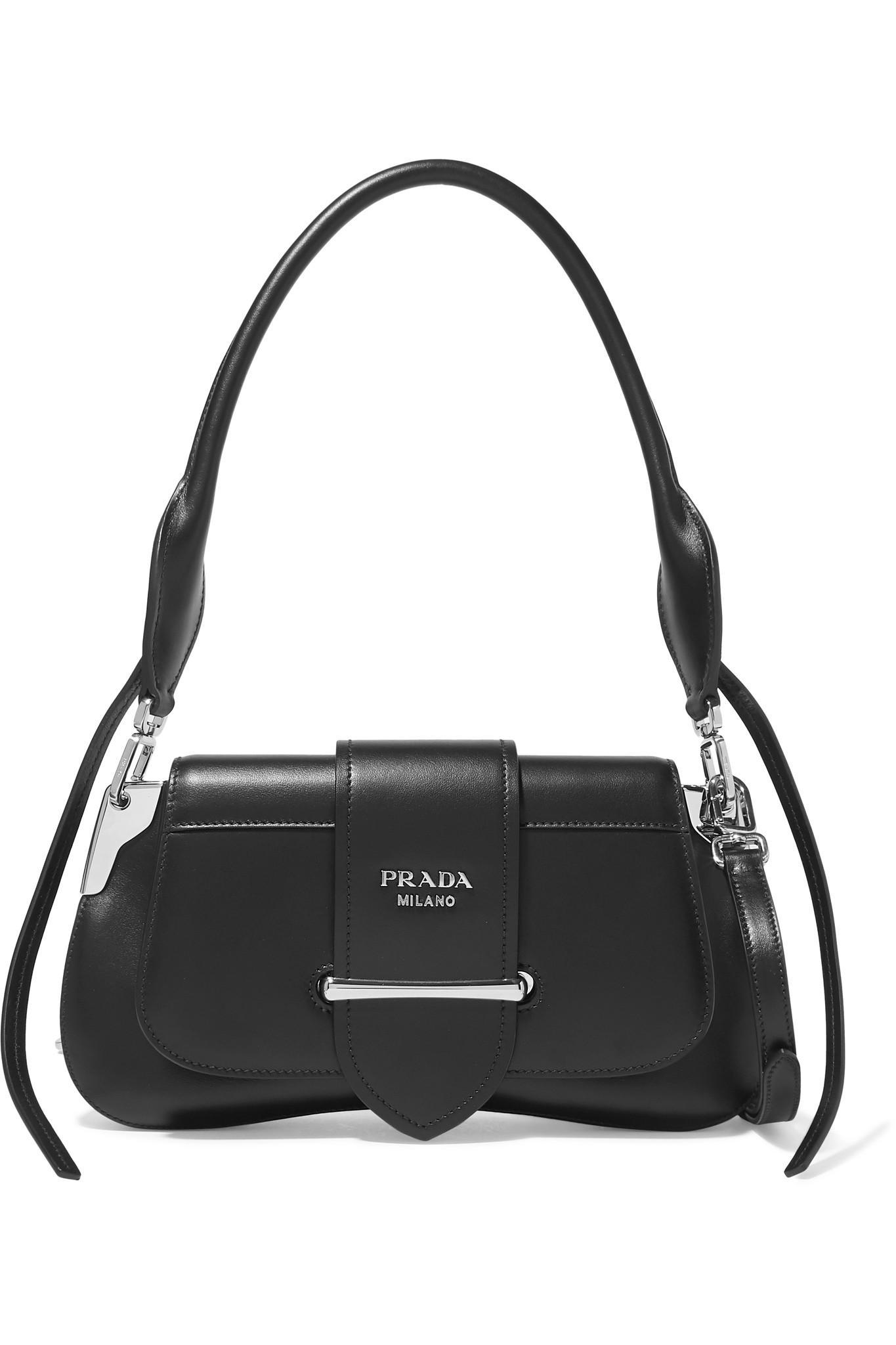 227d8d1f45da Lyst - Prada Sidonie Leather Shoulder Bag in Black