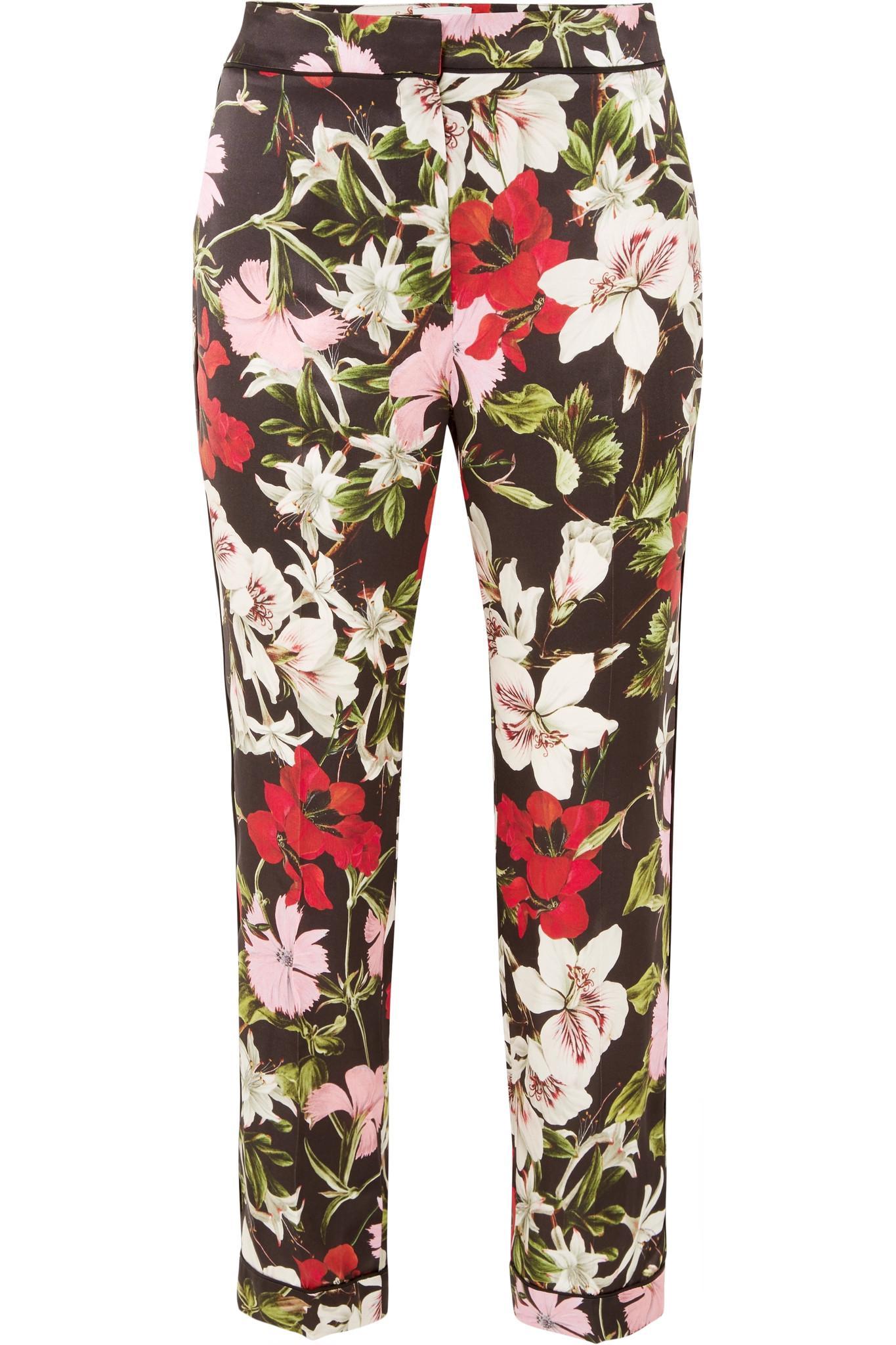 Ginnie floral-printed silk trousers Erdem Wholesale Price Sale Online 34eObJ0O55