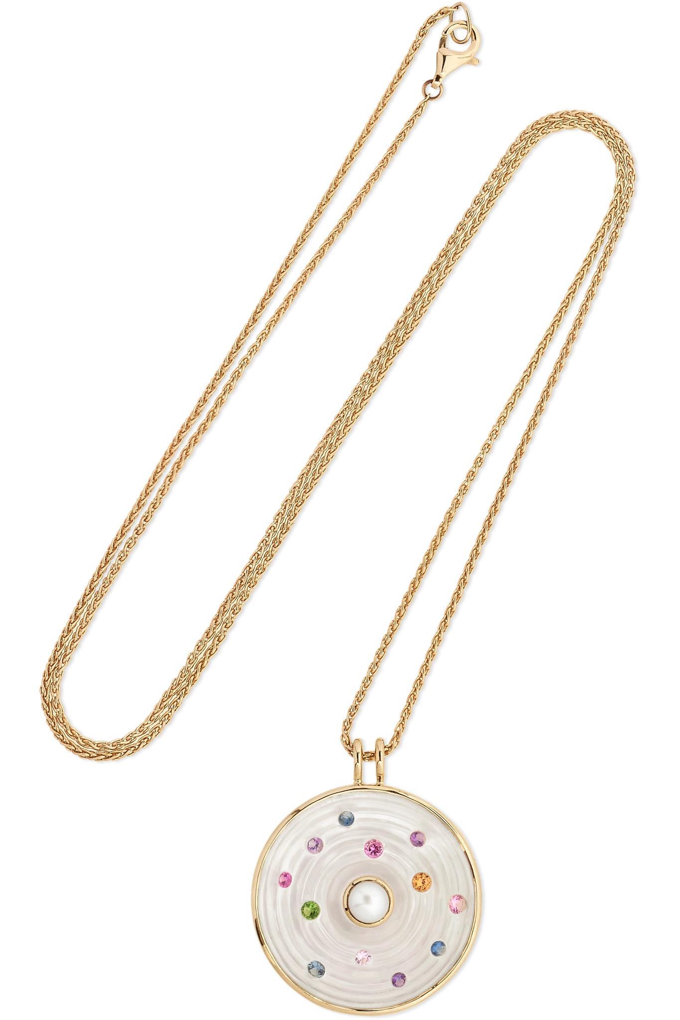 Noor Fares Exclusive Mala 18-karat Gray Gold Multi-stone Necklace 3hypx