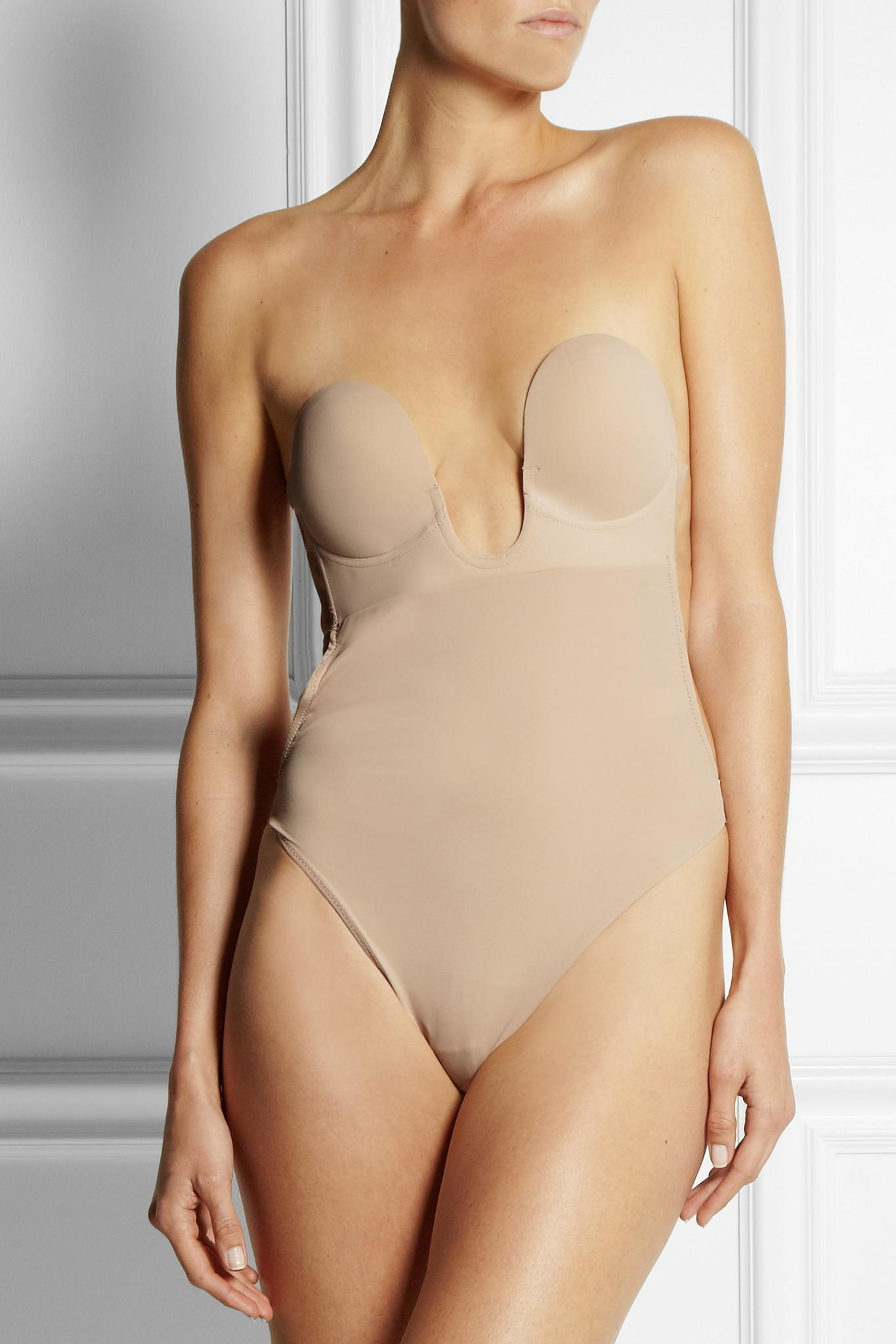12ba3f530 Fashion Forms - Natural U-plunge Self-adhesive Backless Thong Bodysuit -  Lyst. View fullscreen