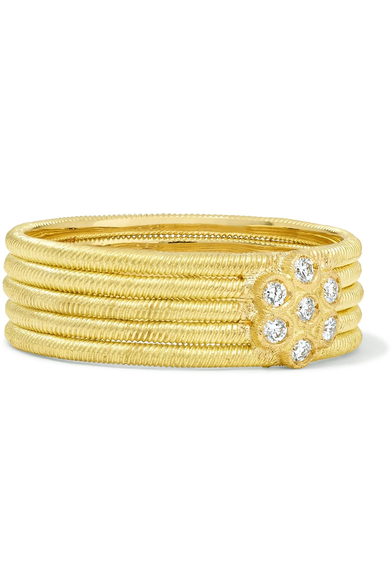 Buccellati Hawaii 18-karat Yellow And White Gold Diamond Ring xzpQPHtlL