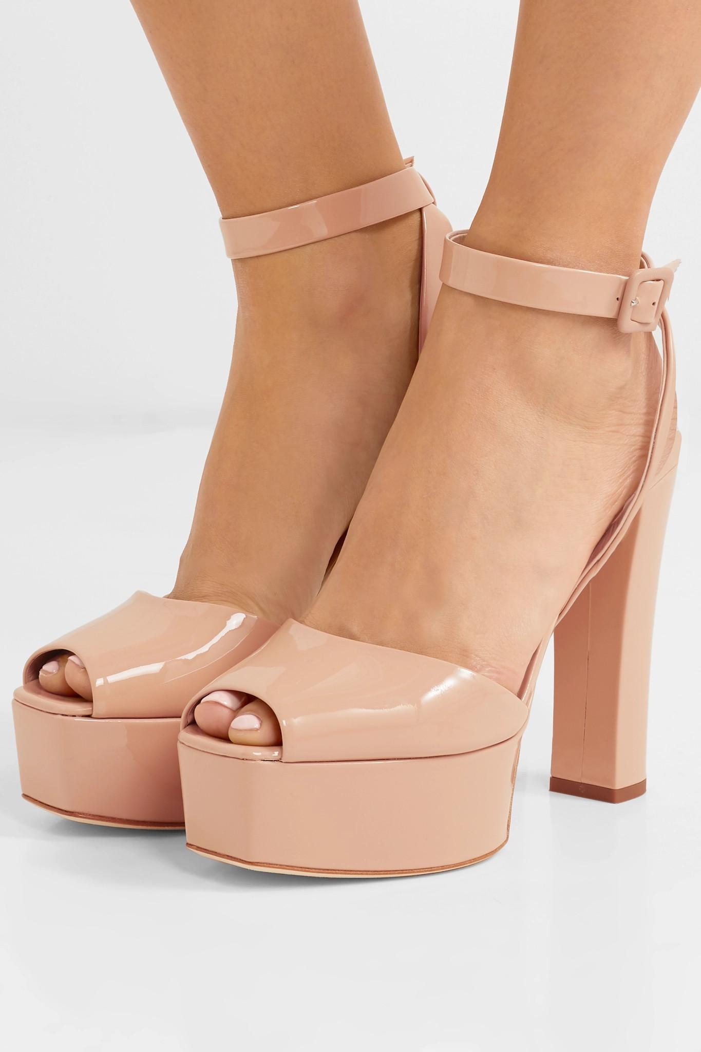30274ac307e1fa Giuseppe Zanotti - Multicolor Betty Patent-leather Platform Sandals - Lyst.  View fullscreen