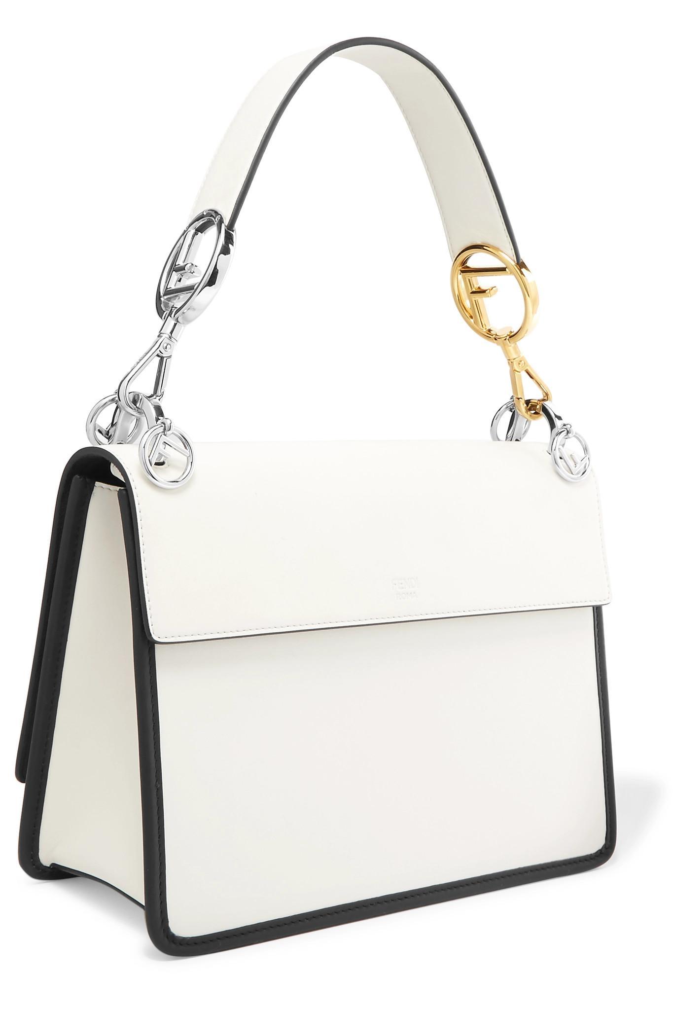 Fendi - White Kan I Leather Shoulder Bag - Lyst. View fullscreen 28877bfdd47a7