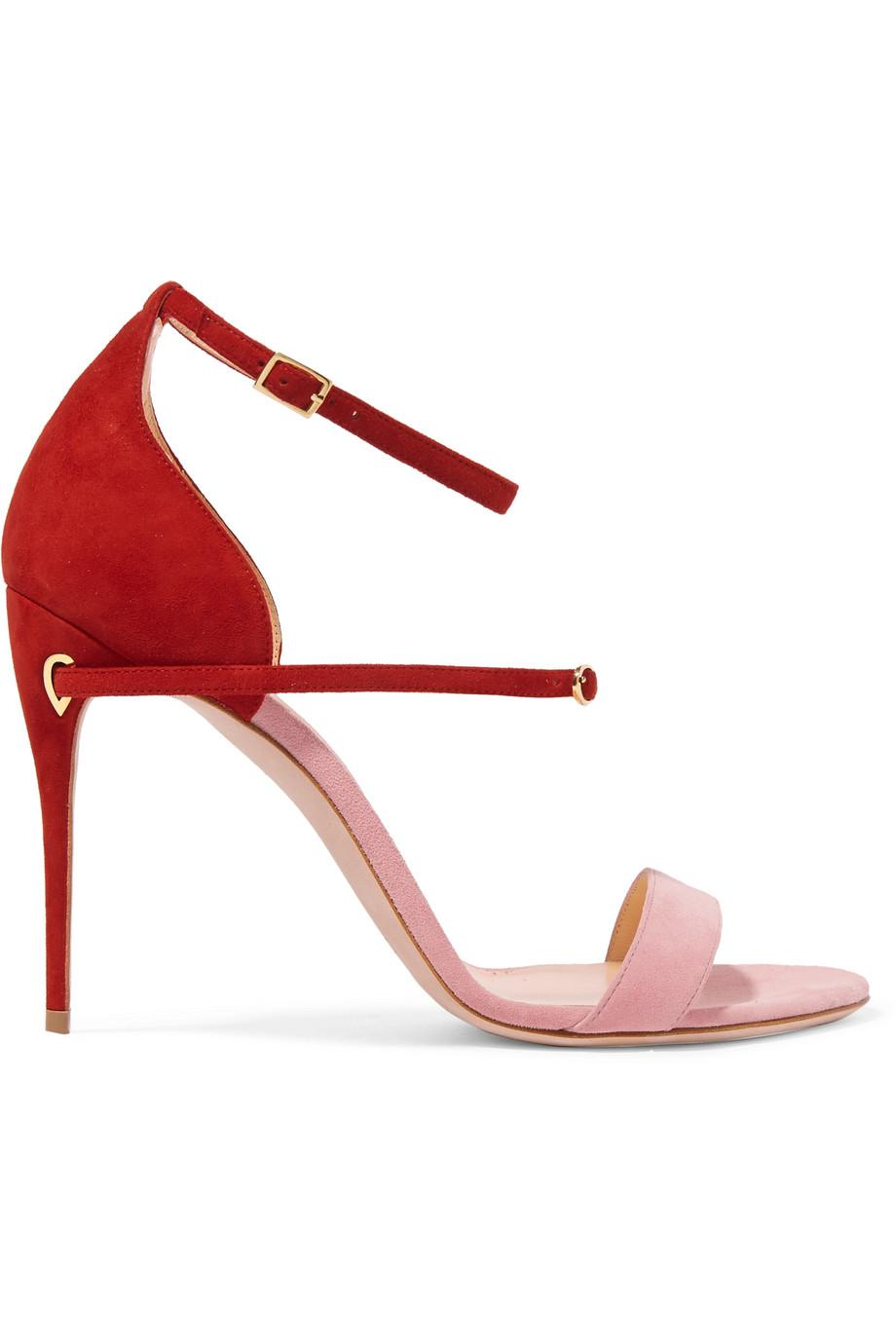 Roland Two-tone Suede Sandals - Pink Jennifer Chamandi New For Sale Purchase Sale Online Cheap Limited Edition Free Shipping Great Deals saIaXKr6
