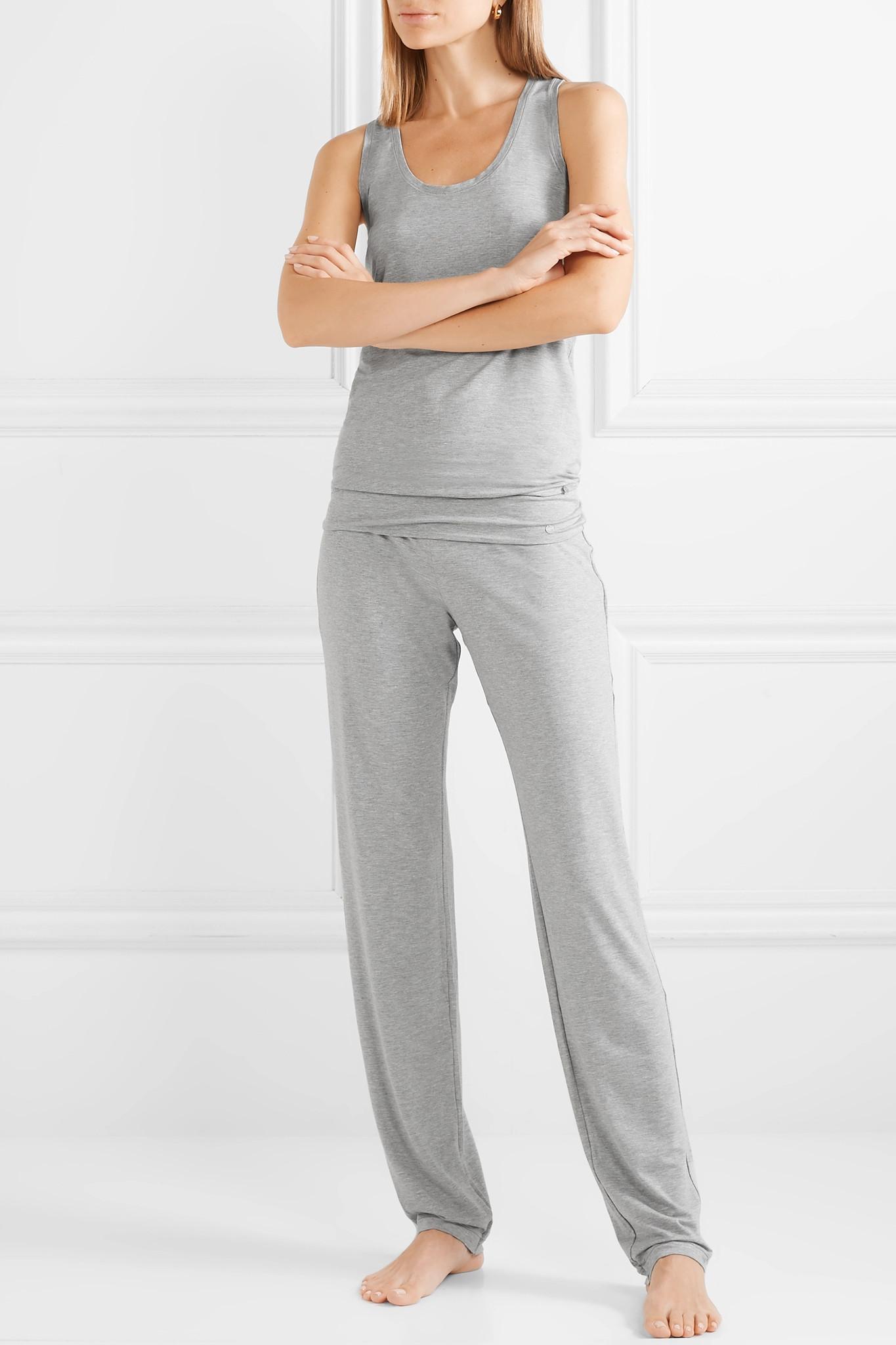 8bf082b470e9c Hanro - Gray Yoga Lounge Stretch-modal Pants - Lyst. View fullscreen