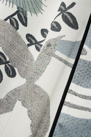 Kimono En Satin De Soie Imprimé Carine Gilson