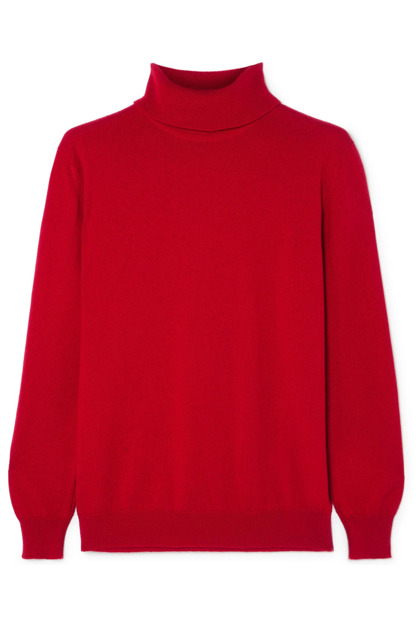 001cf65a3 Lyst -  Daughter Casla Cashmere Turtleneck Sweater in Red