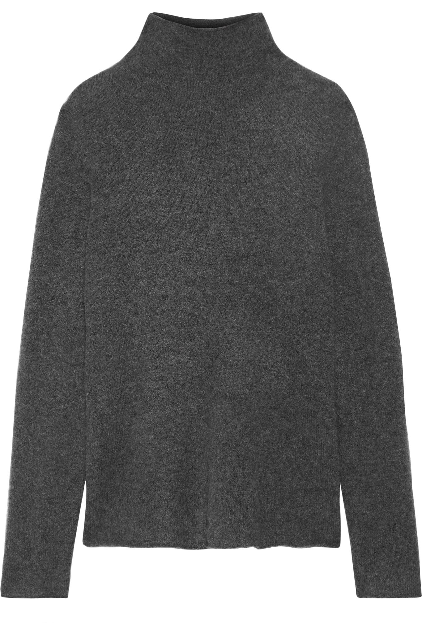 6df3abccaa James Perse Cashmere-blend Felt Turtleneck Sweater in Gray - Lyst
