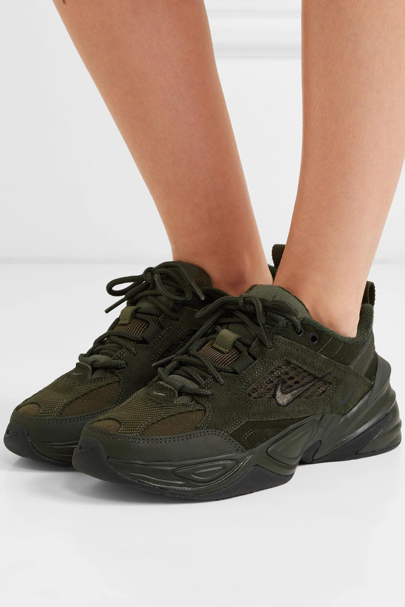 3c1e2713ae Nike M2k Tekno Suede And Mesh Sneakers in Green - Lyst