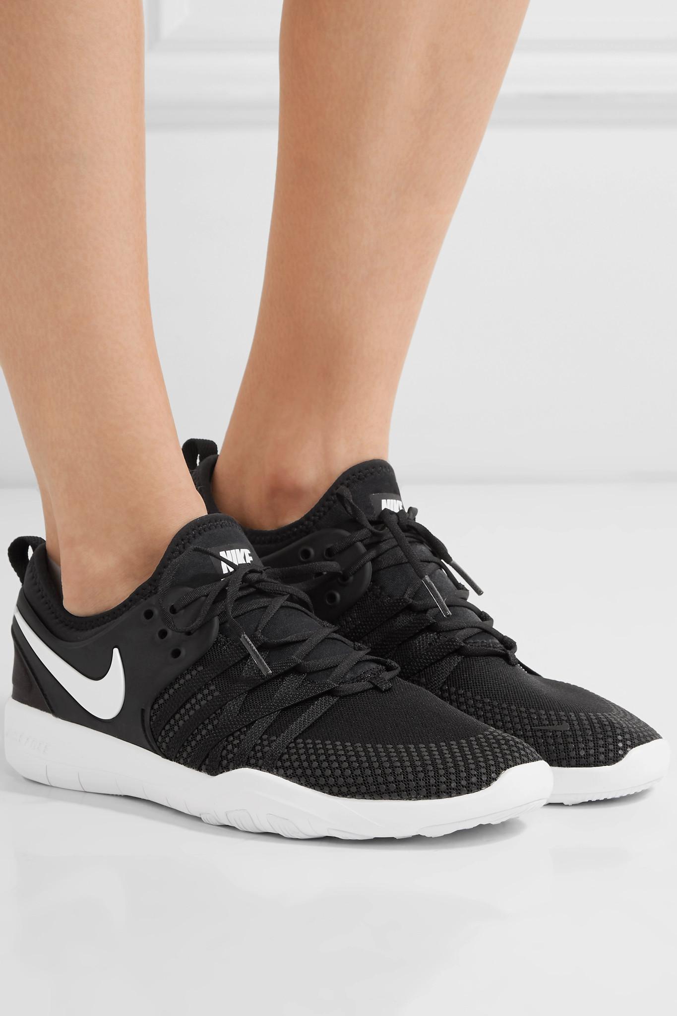 0922c55788fda Lyst - Nike Free Tr 7 Mesh Sneakers in Black