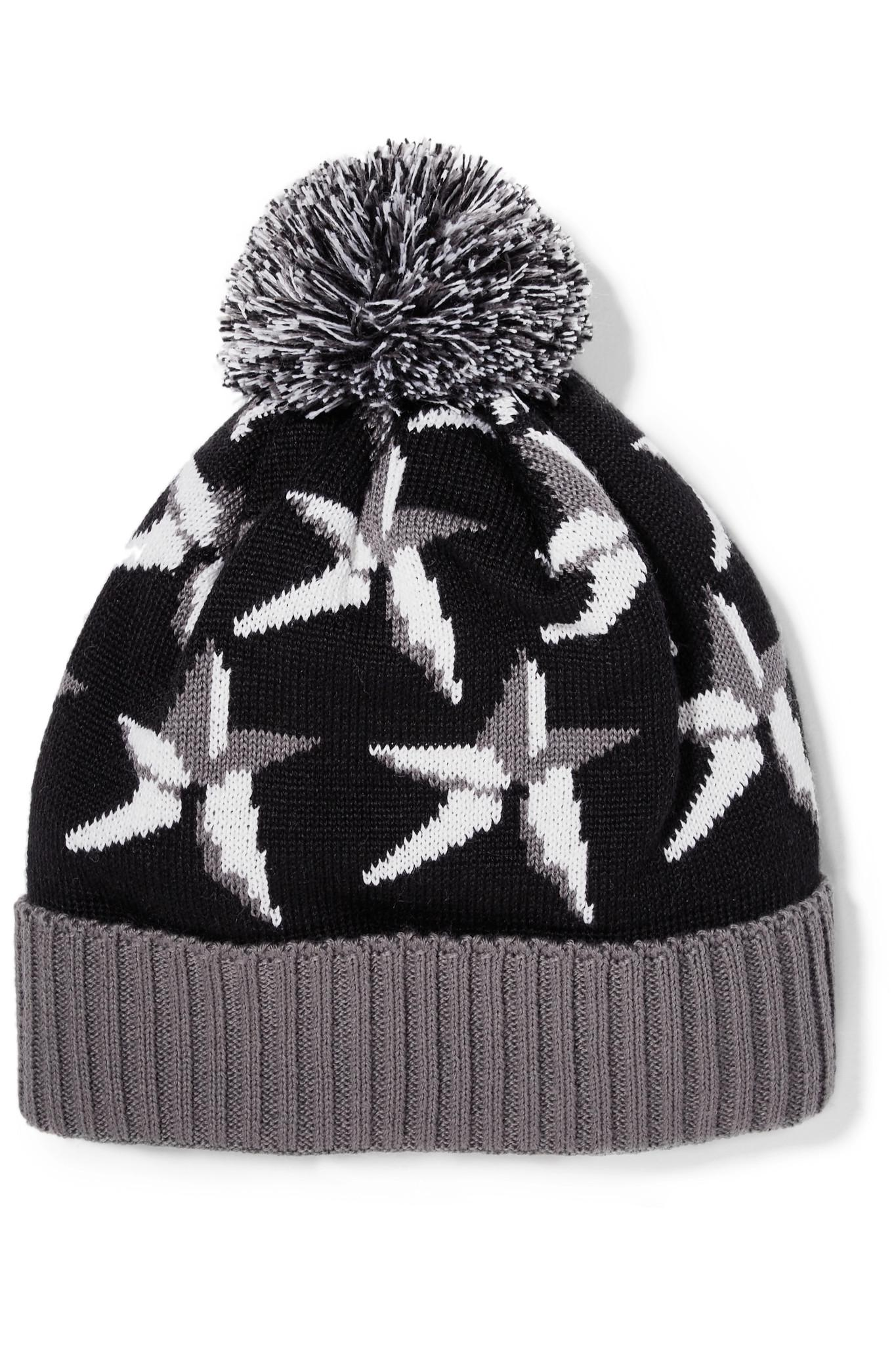 a5652a46215 Perfect Moment Star Pompom-embellished Intarsia Wool-blend Beanie in ...