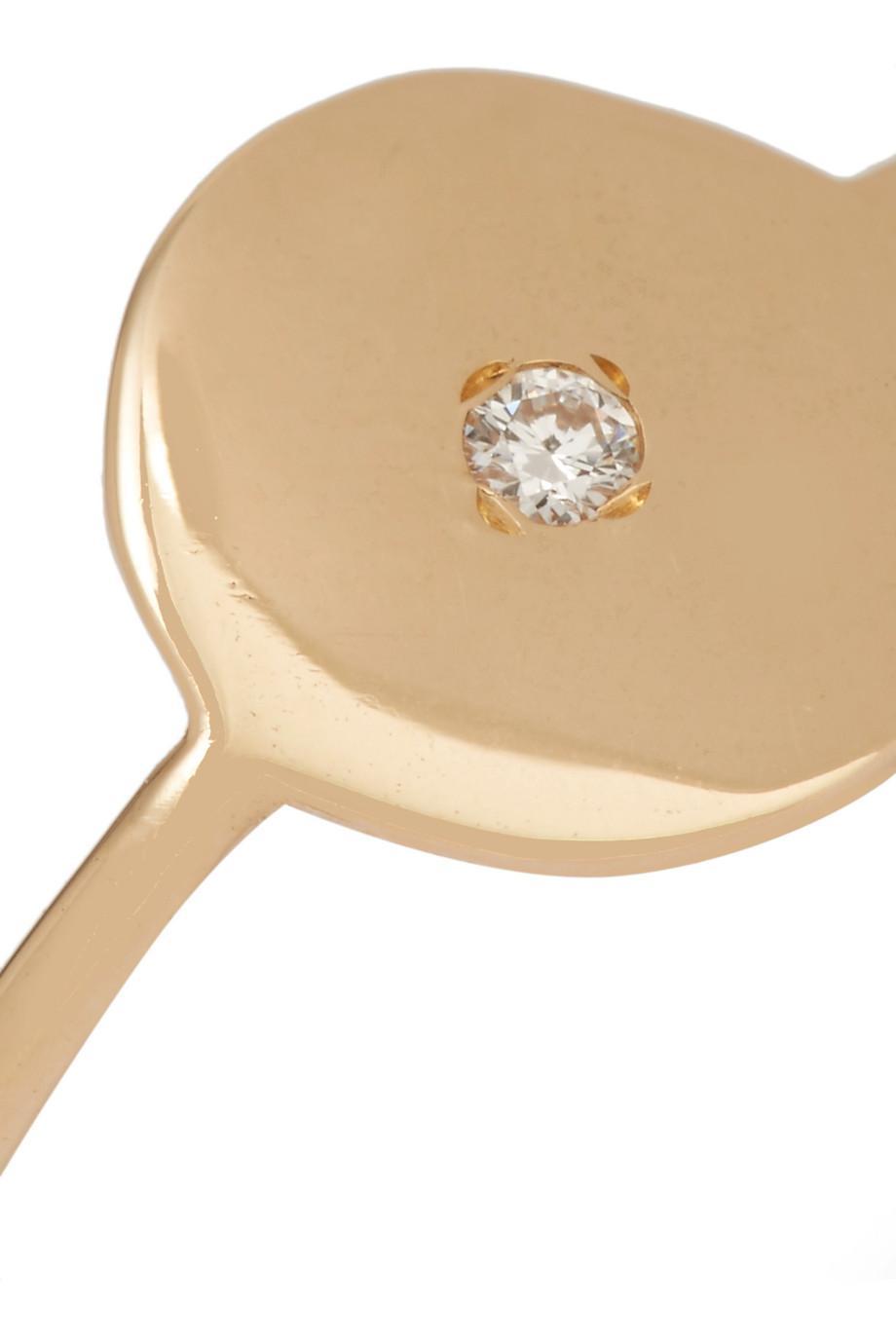 Sansoeurs Sequin 18-karat Gold Diamond Ear Cuff c3uke5vS