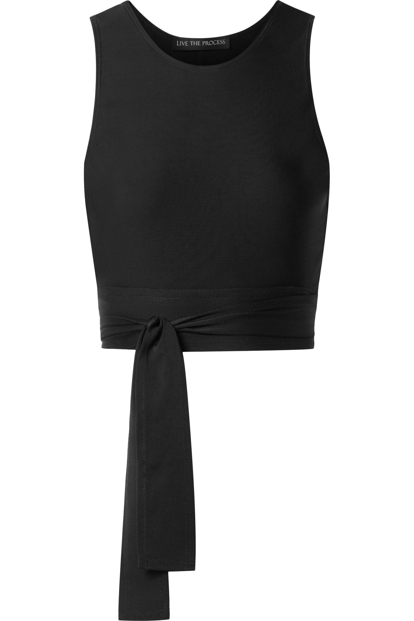 Live The Process - Black Block Tie-front Stretch-supplex Top - Lyst. View  Fullscreen
