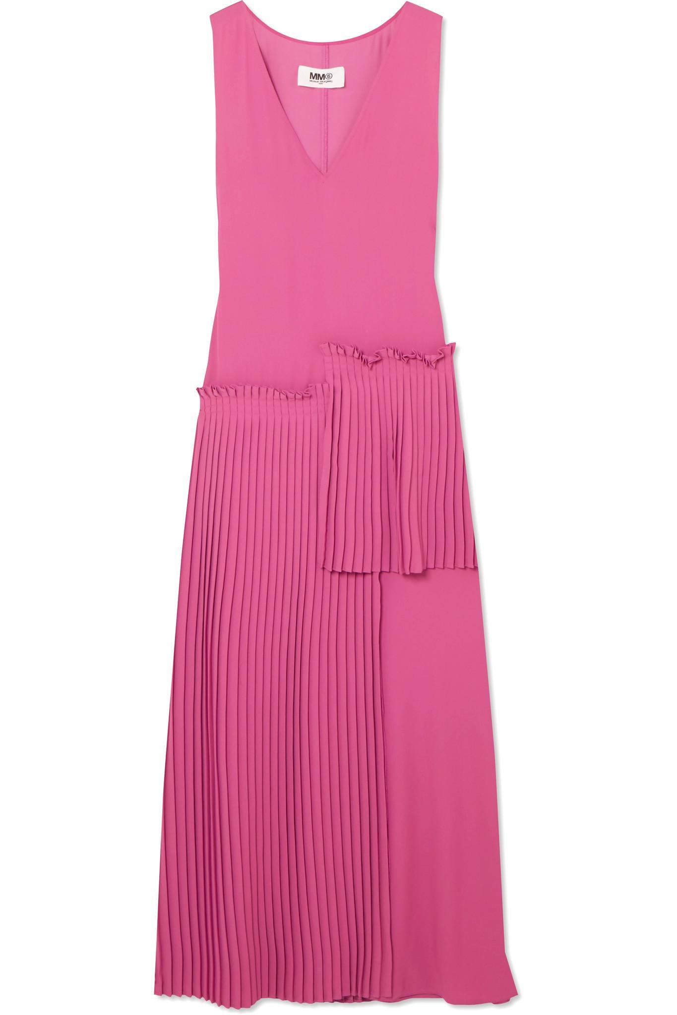 Crepe Dress Maison Martin Margiela Sale Wiki Cheap Price Wholesale Price Free Shipping Looking For SB7Ewak