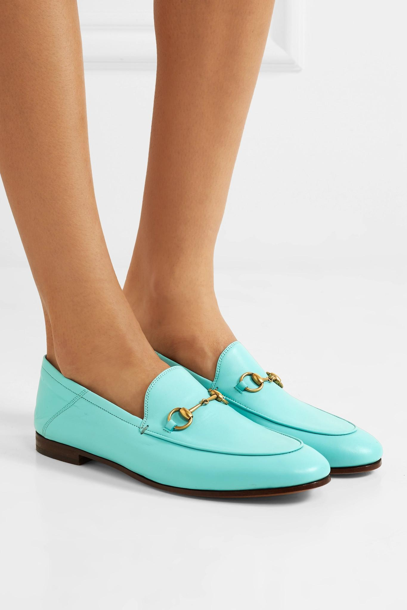 2806797c13b Gucci - Blue Horsebit-detailed Leather Loafers - Lyst. View fullscreen