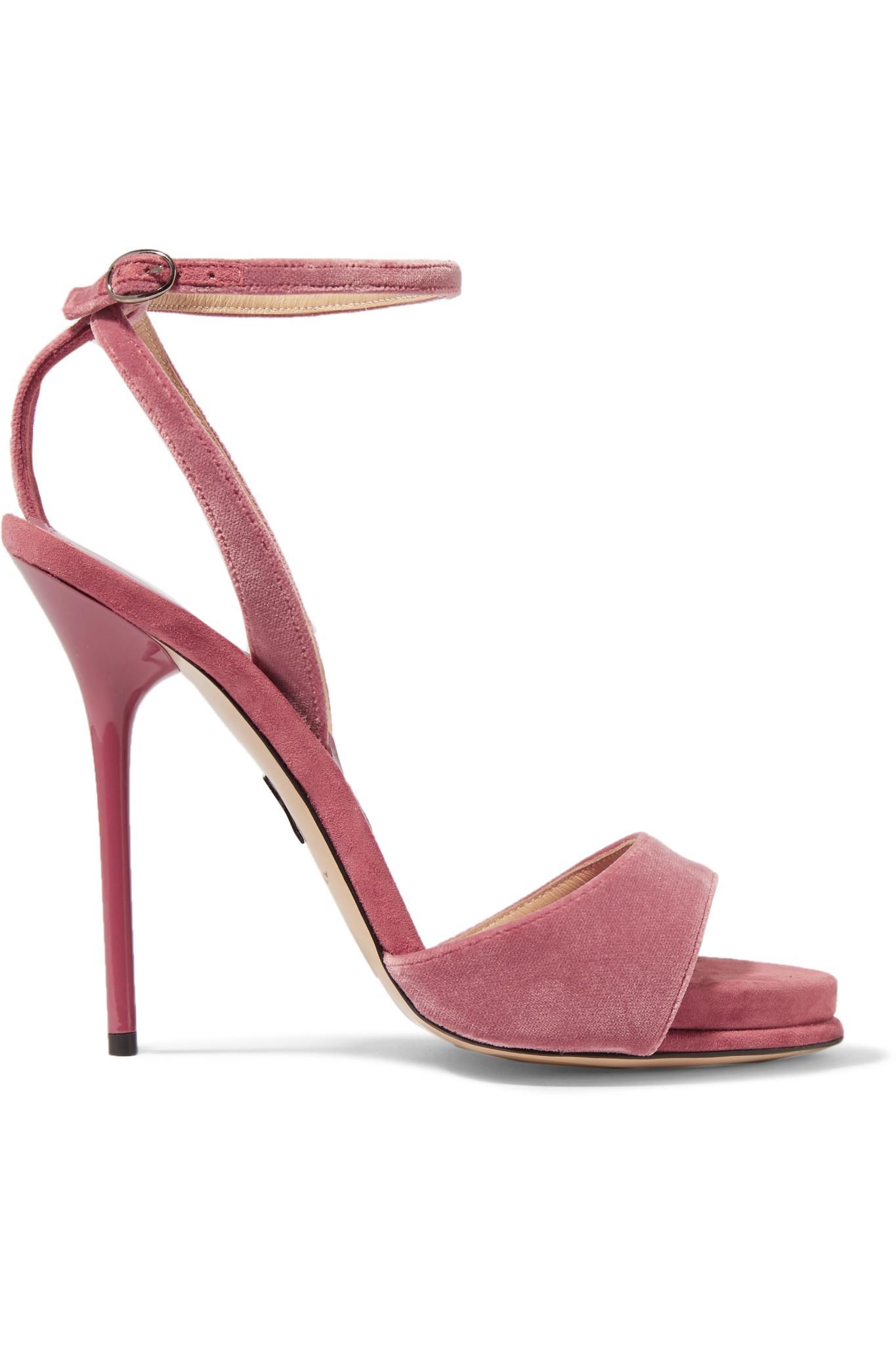 Paul Andrew Velvet Cutout Sandals discount big discount bK7I0iOgk